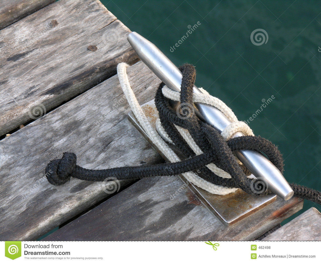 Download Knots, cleats and ropes stock photo. Image of anchor, moor - 462498
