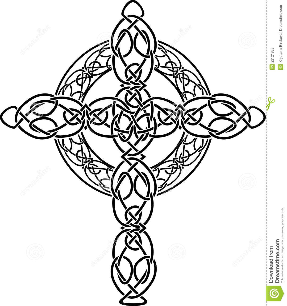 Knotted celtic cross stencil stock vector illustration of black knotted celtic cross stencil voltagebd Gallery