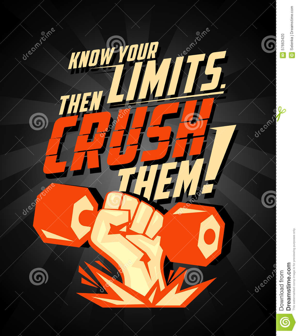Know Your Limits, Then Crush Them, Quote Vector Card  Stock