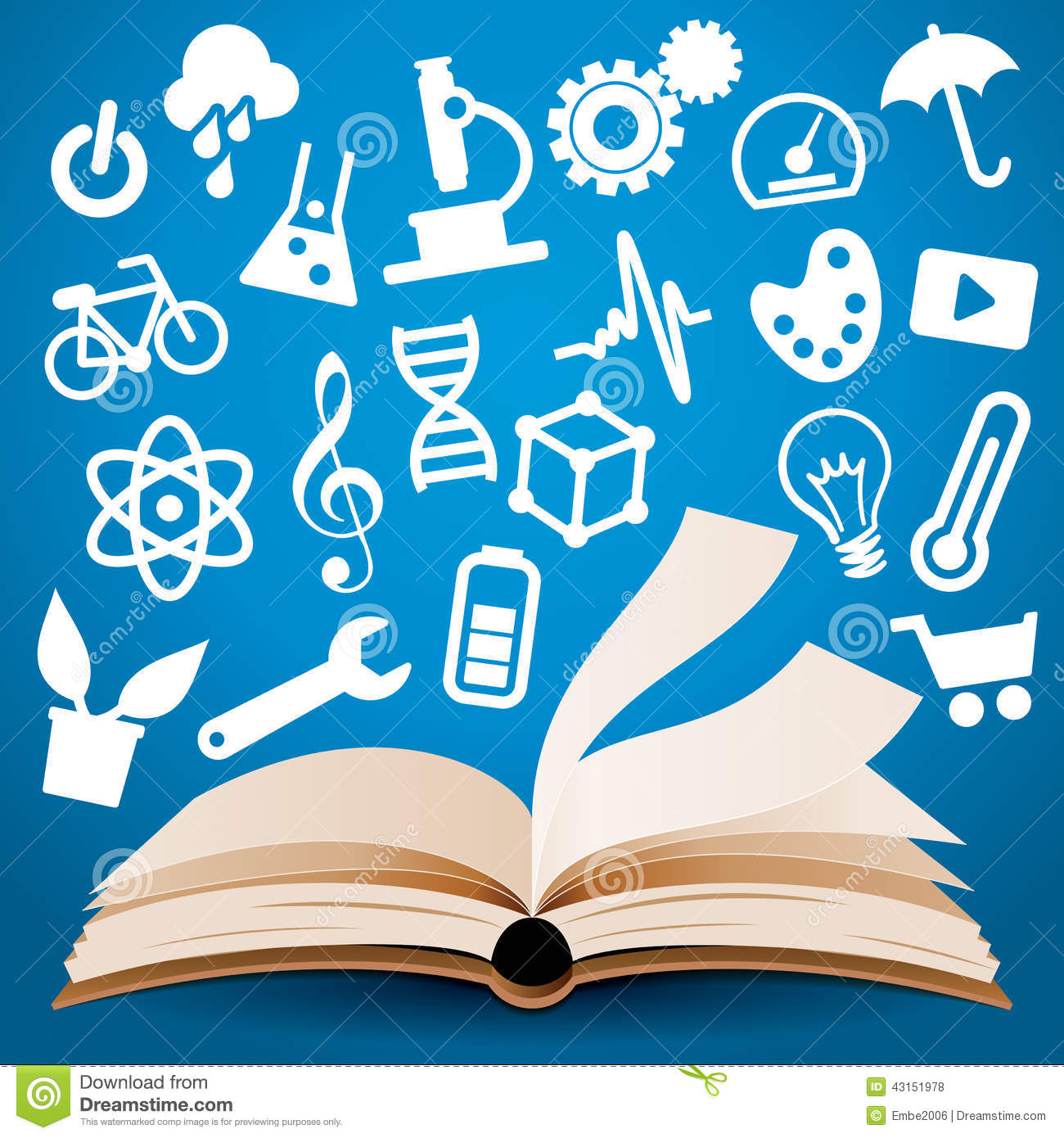 Knowledge Learning Book Background Stock Vector ...