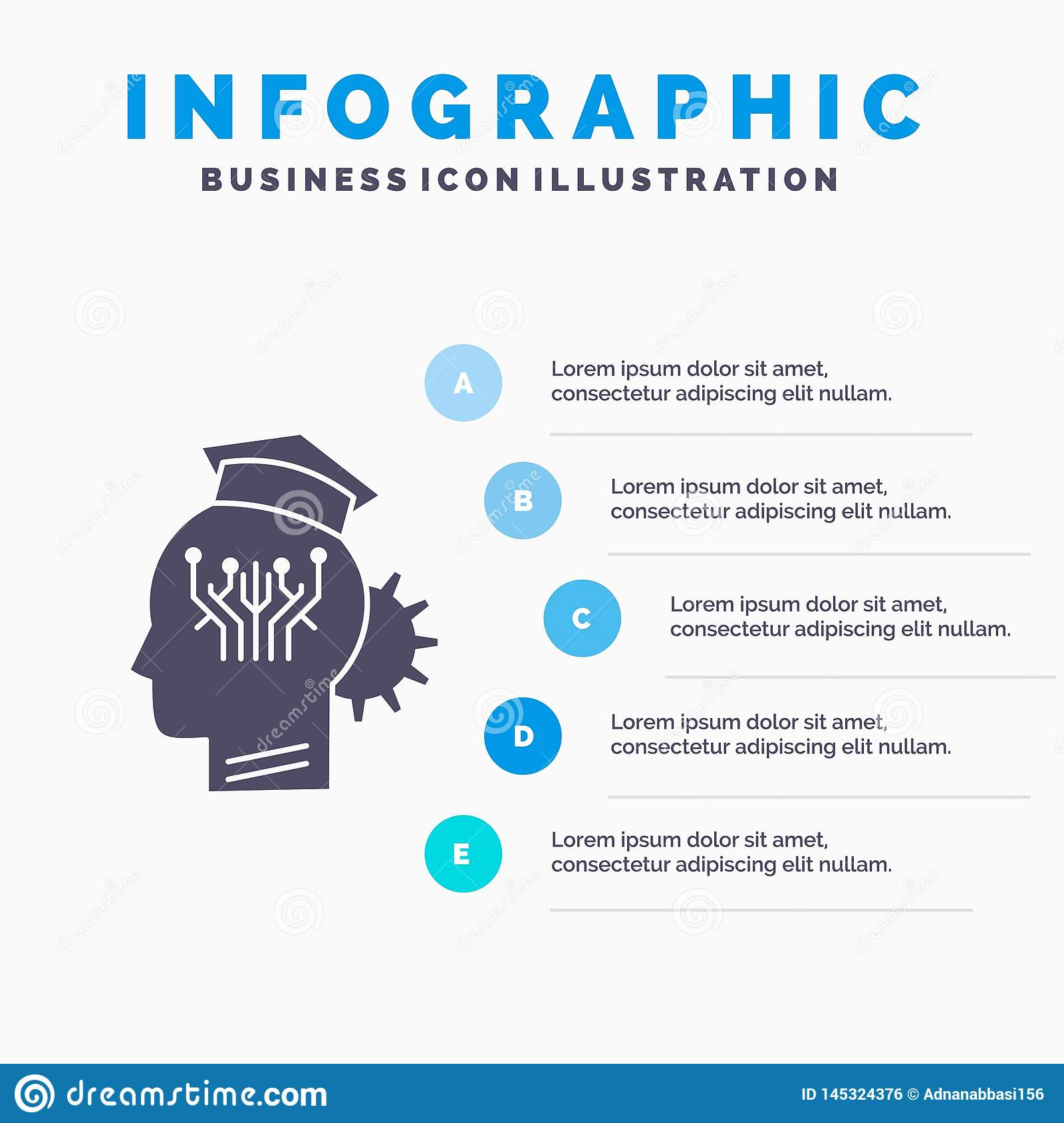 knowledge, management, sharing, smart, technology Infographics Template for Website and Presentation. GLyph Gray icon with Blue