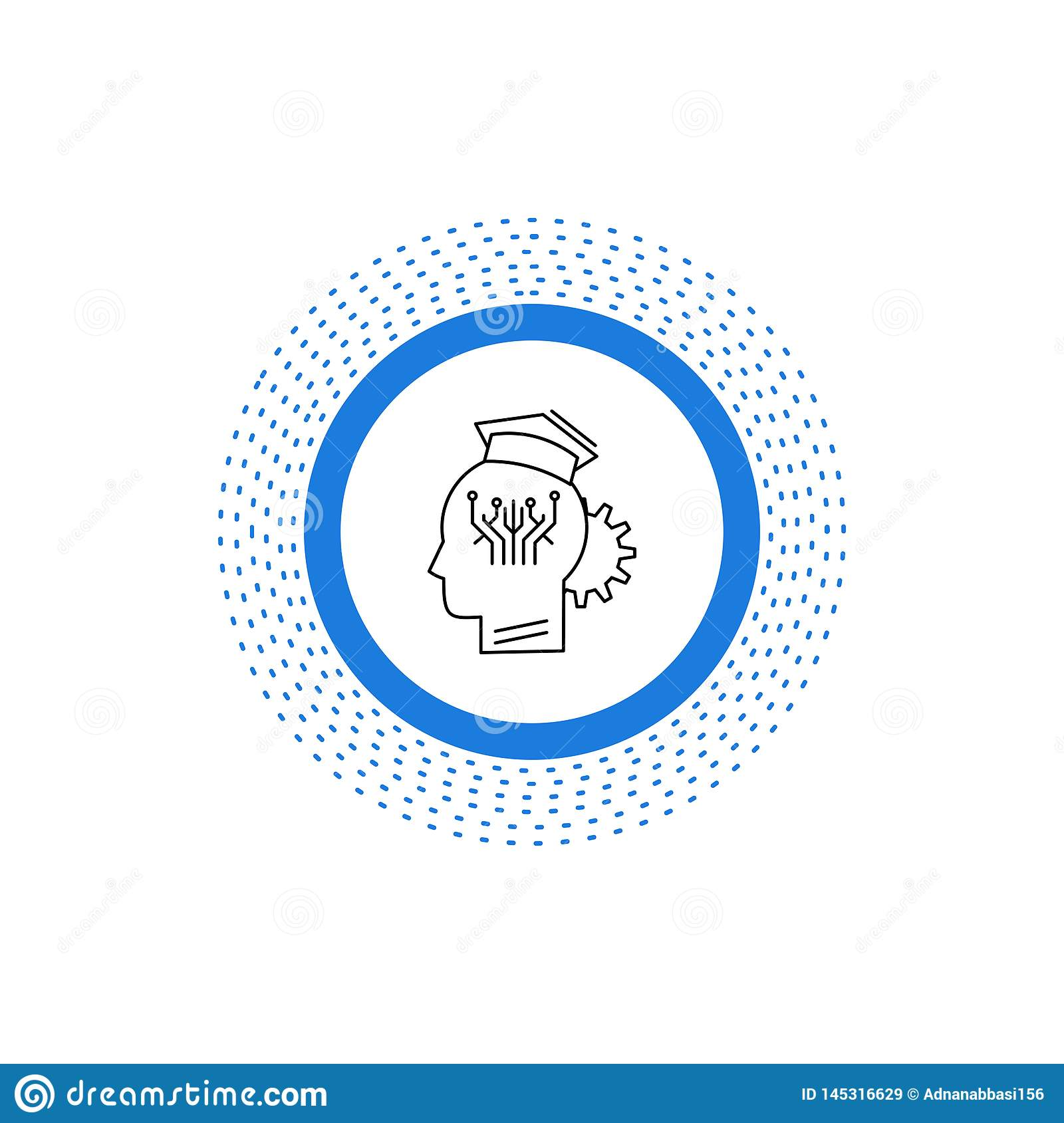 knowledge, management, sharing, smart, technology Line Icon. Vector isolated illustration