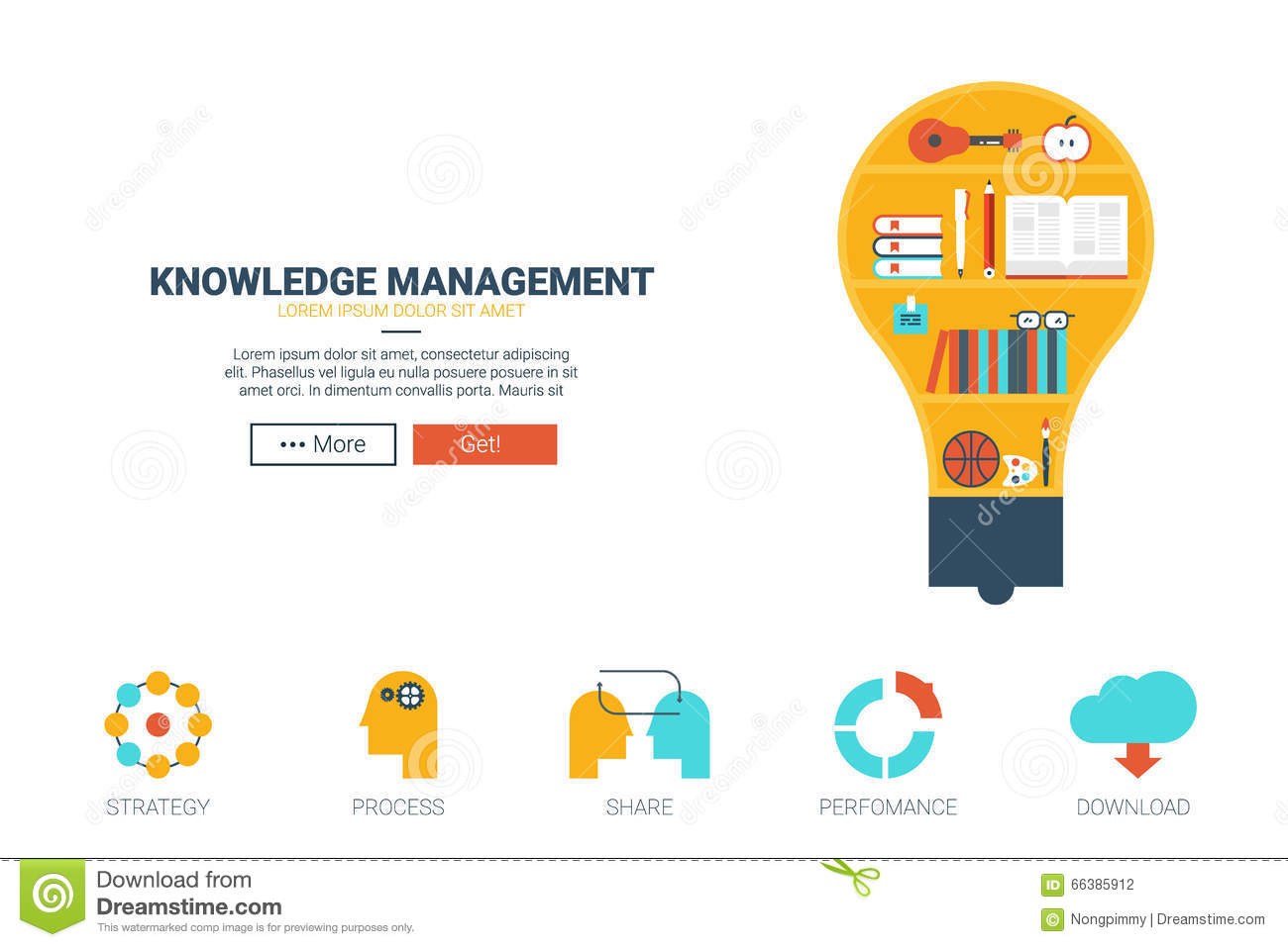Knowledge management website template stock vector for Del website