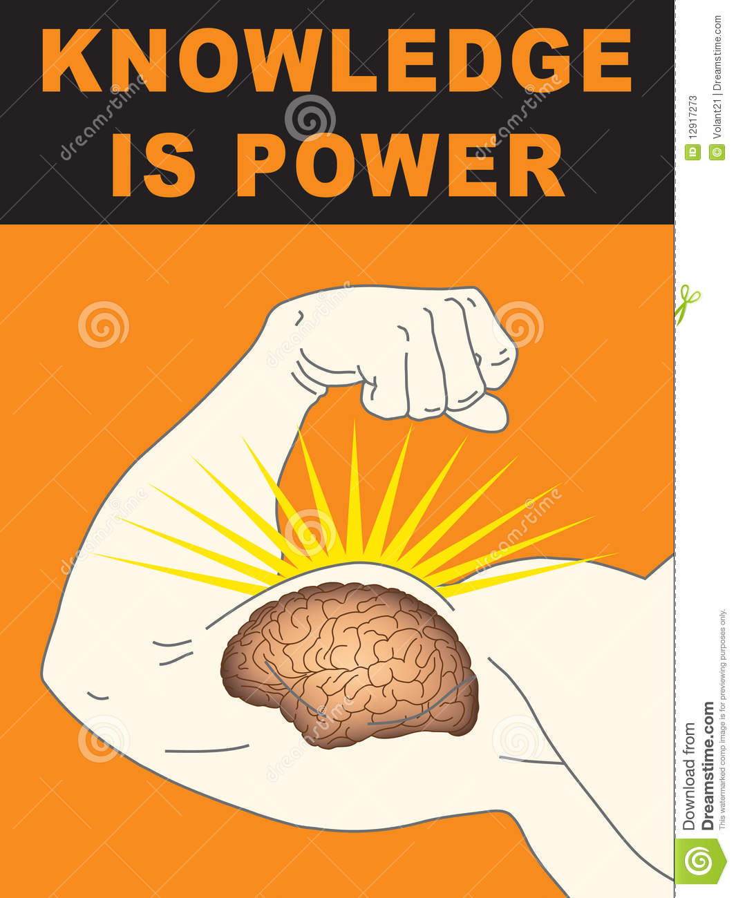 W strong sticker - Knowledge Is Power Stock Photos Image 12917273