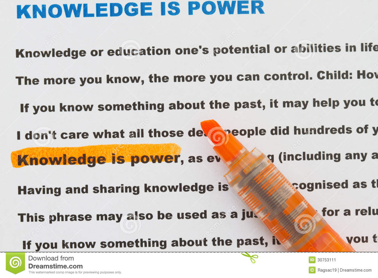 Knowledge Is Power Stock Image Image Of Display Teaching   Knowledge Is Power With Narrative Document And Definition Of Knowledge Power