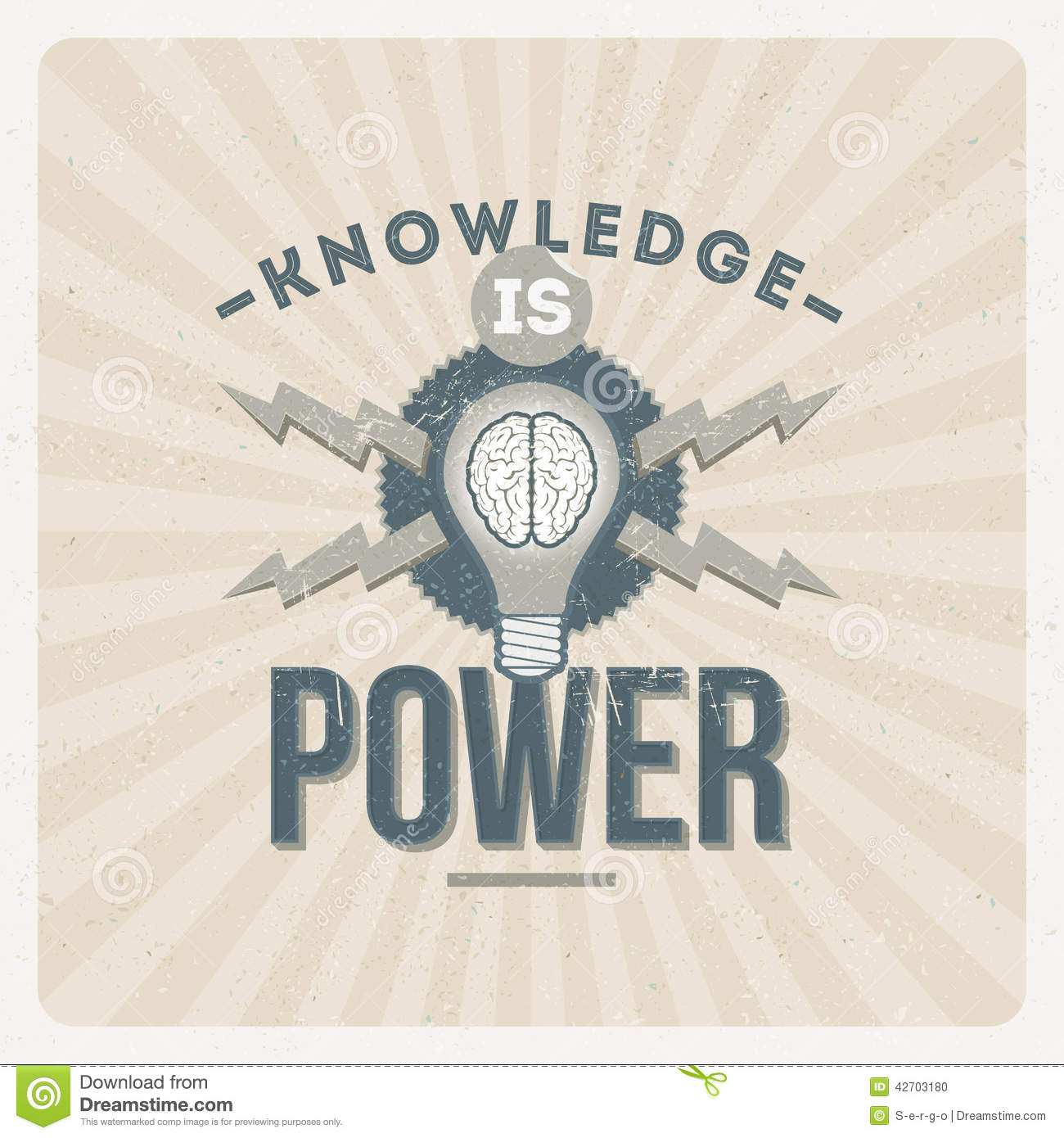 about knowledge is power