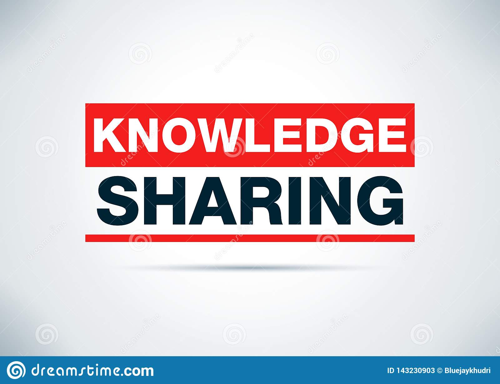 Knowledge Sharing Abstract Flat Background Design Illustration