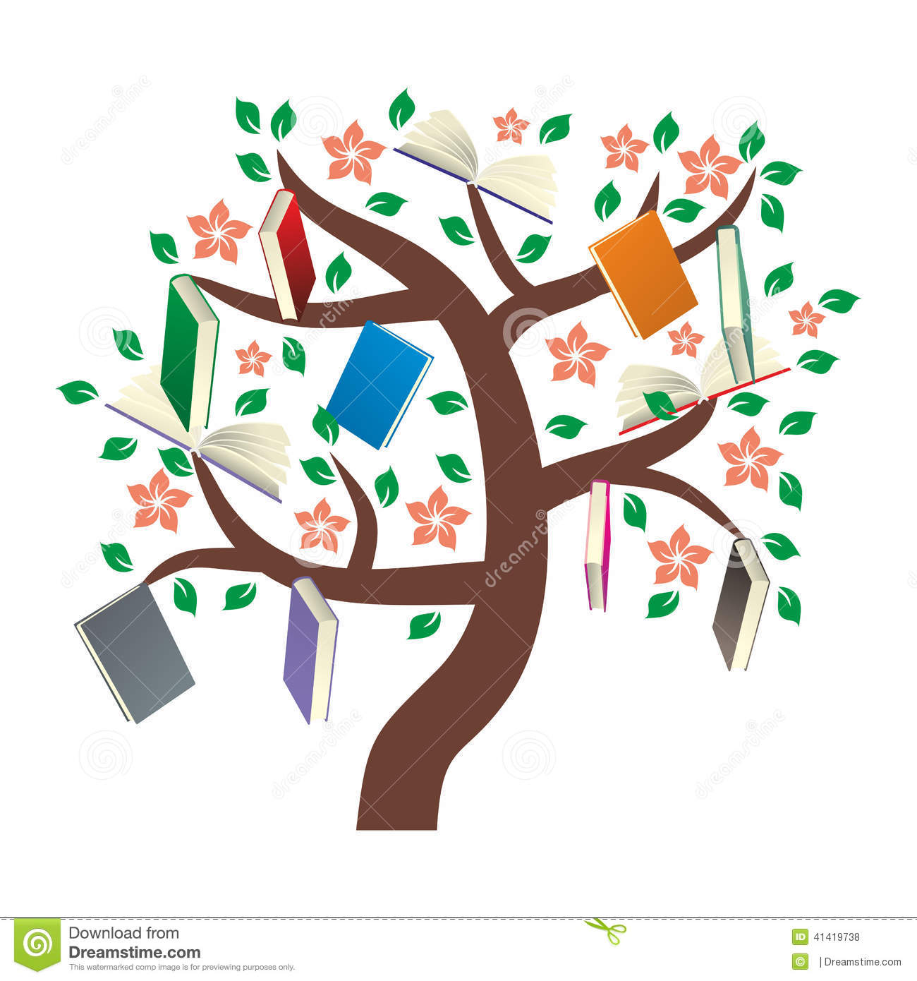 book tree clipart - photo #10