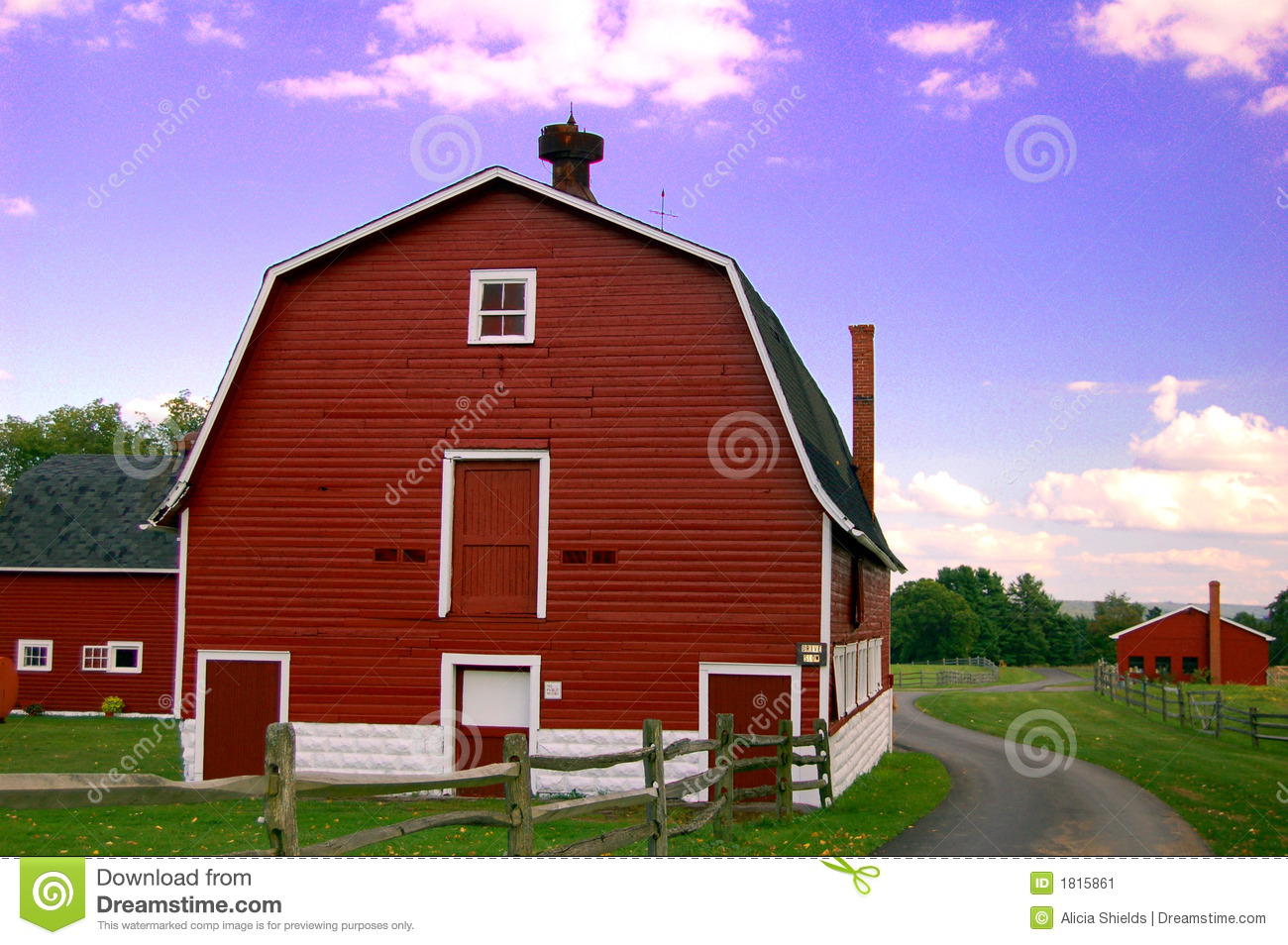 Knox Farm Barns Stock Image Image