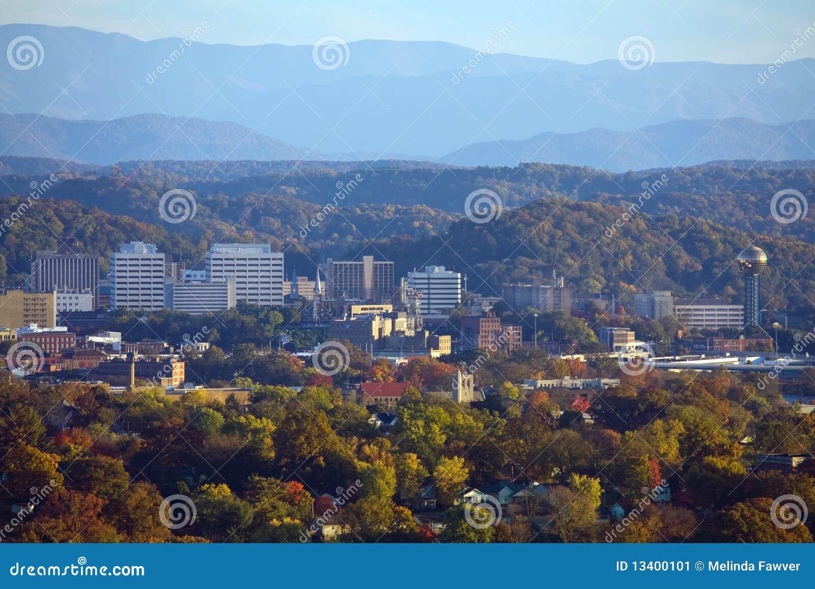 Knoxville gór linia horyzontu dymiąca