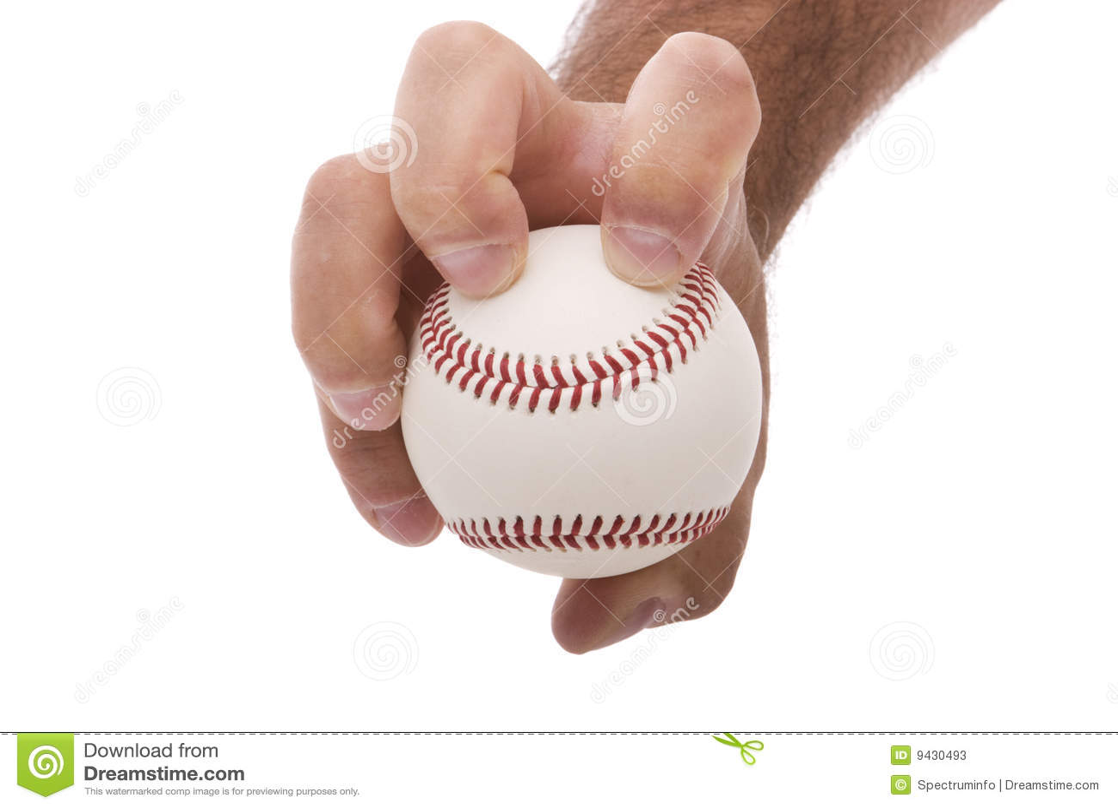 Knuckleball Baseball Pitching Grip Stock Photos - Image: 9430493