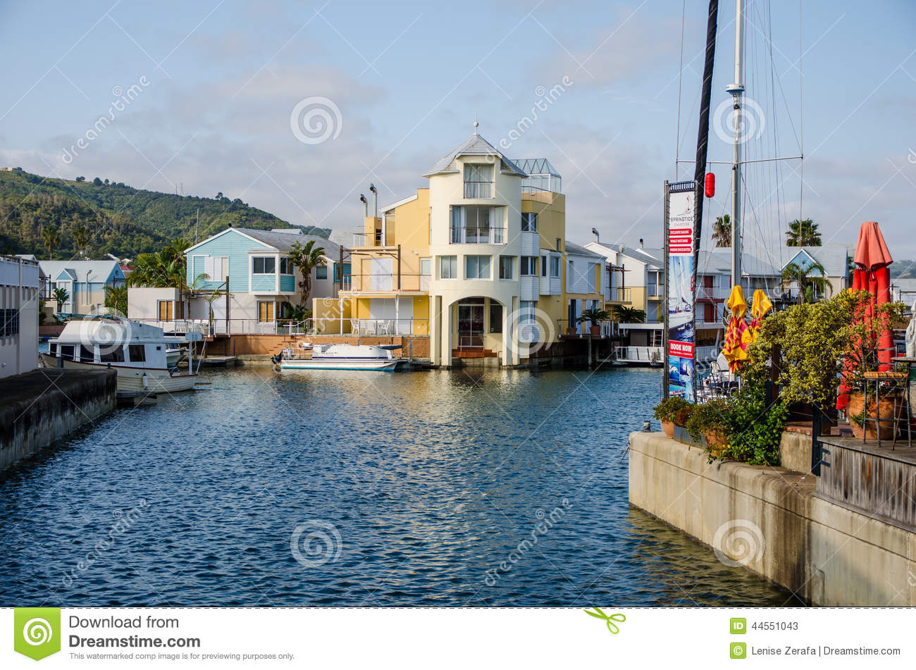 knysna waterfront in south africa editorial stock photo image