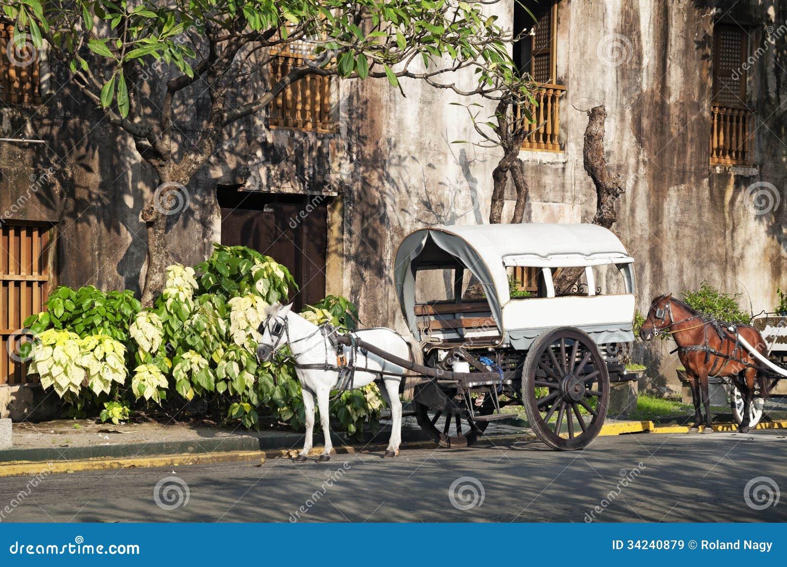Koń Rysujący Calesa Manila, Filipiny, -
