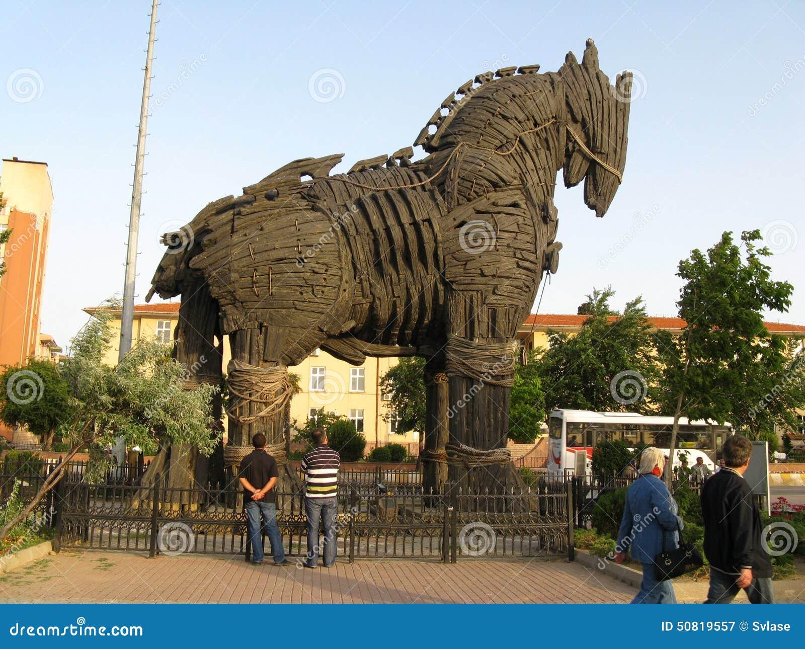 Koń Trojański w Troja Turcja (Truva)