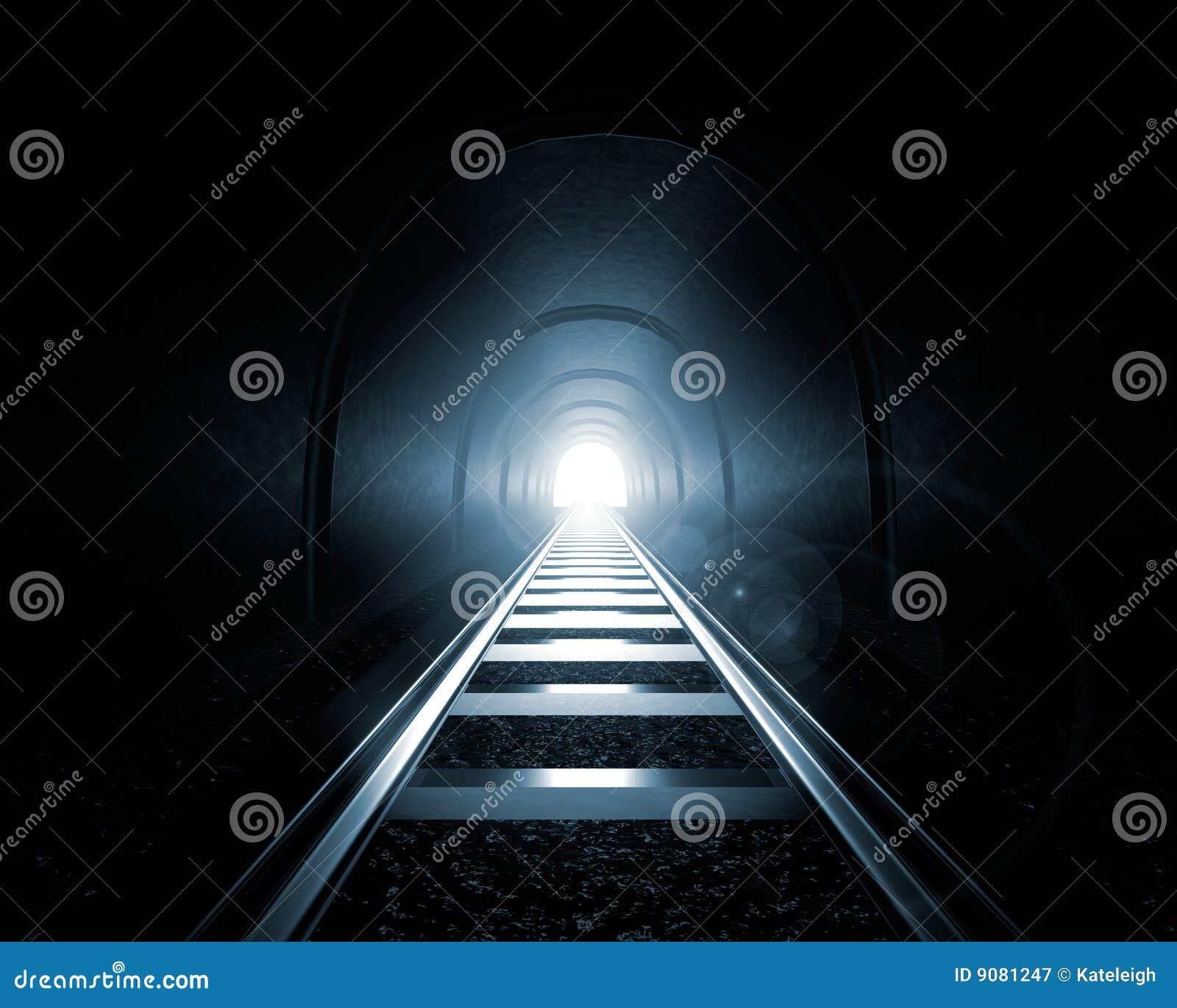 Końcówka światła tunel
