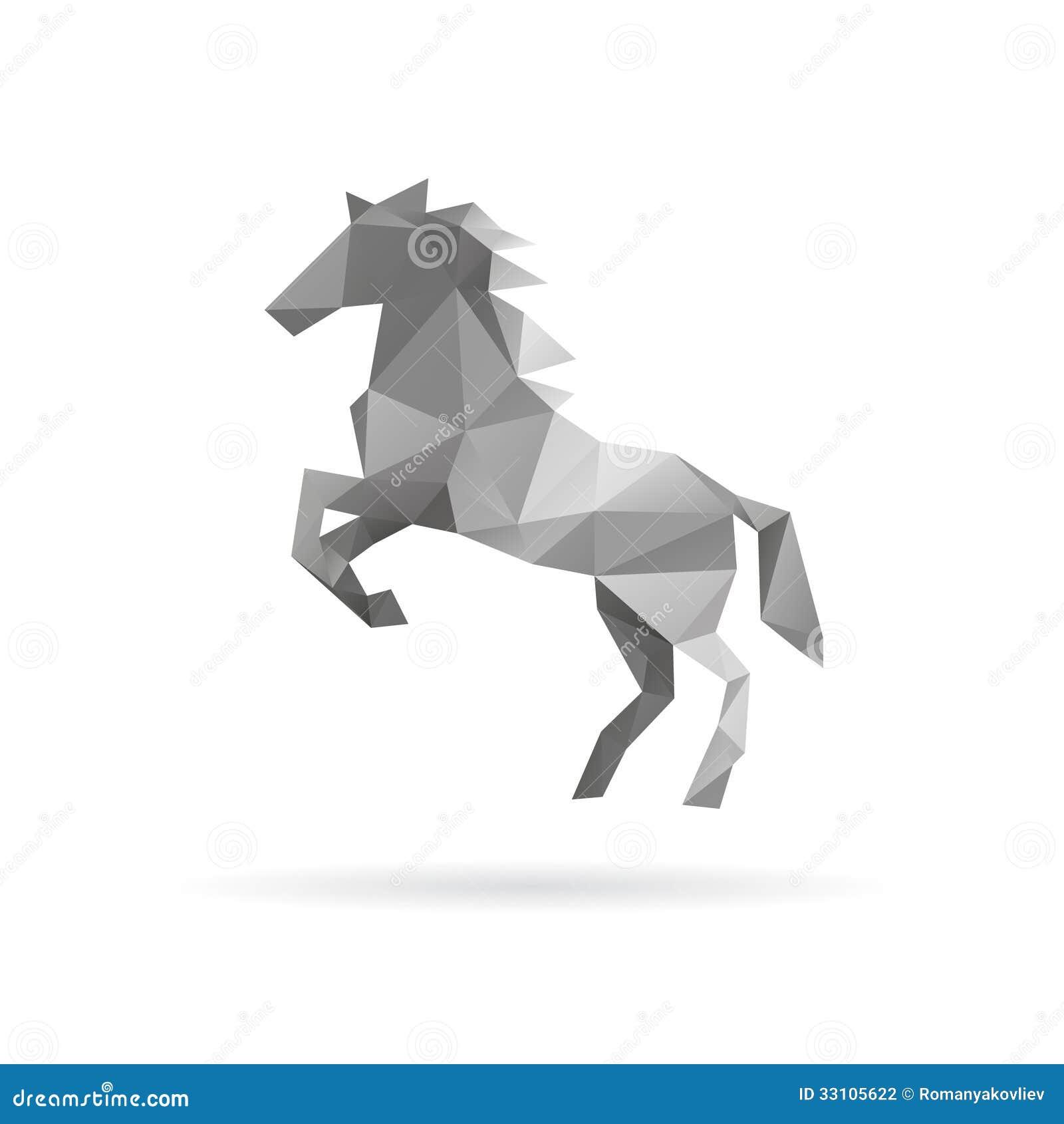 Koński abstrakt na biali tła