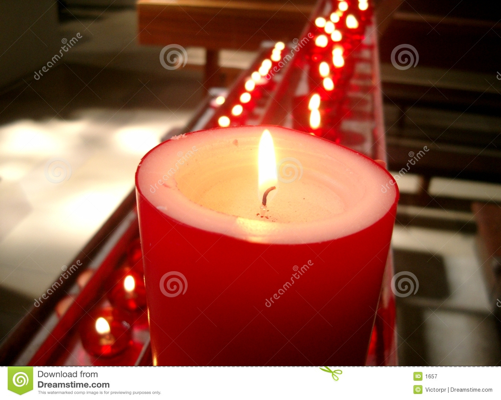 Kościół czerwonego świece.
