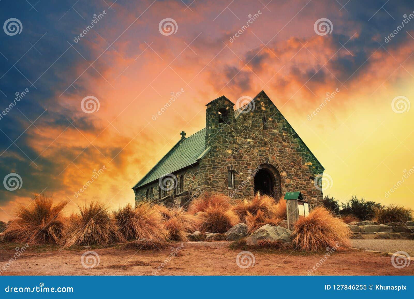 Kościół dobry pasterski znacząco punkt zwrotny i podróżny destin