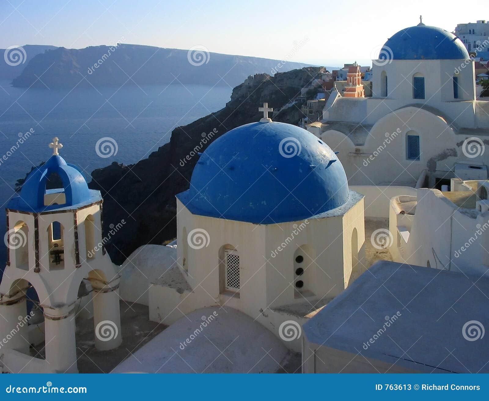 Kościół Oia Greece sławny santorini jakiś widok
