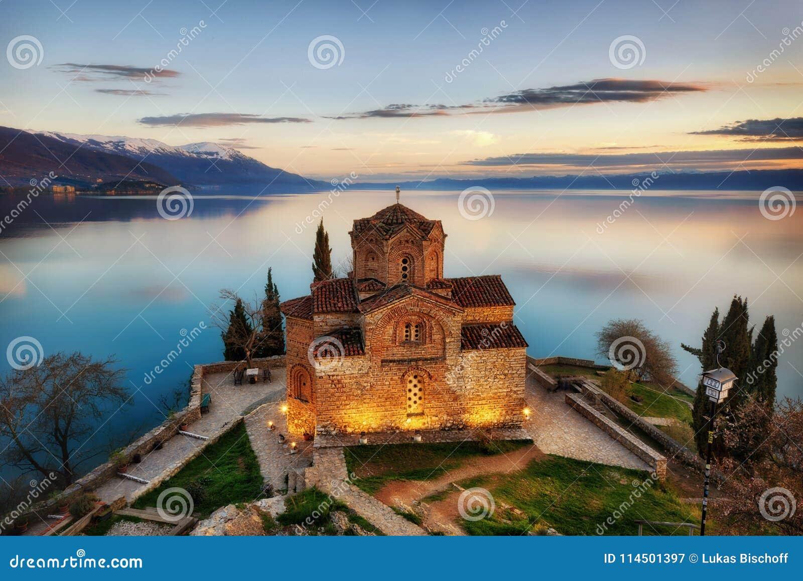 Kościół St John teolog przy Kaneo -, Ohrid, Macedonia
