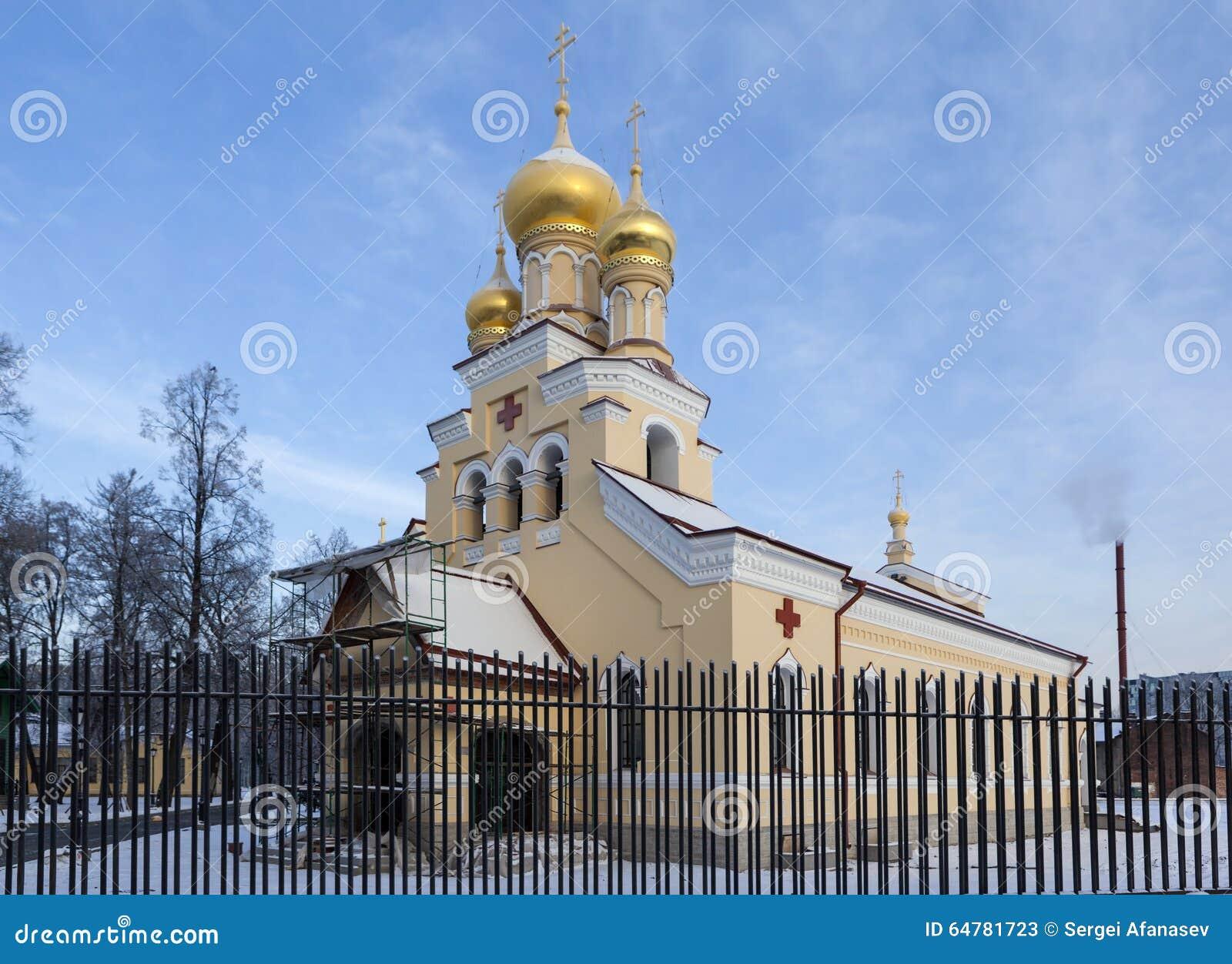 Kościół St Panteleimon uzdrowiciel przy rezydencją ziemską Kushelev na Sverdlovsk bulwarze St Petersburg Rosja