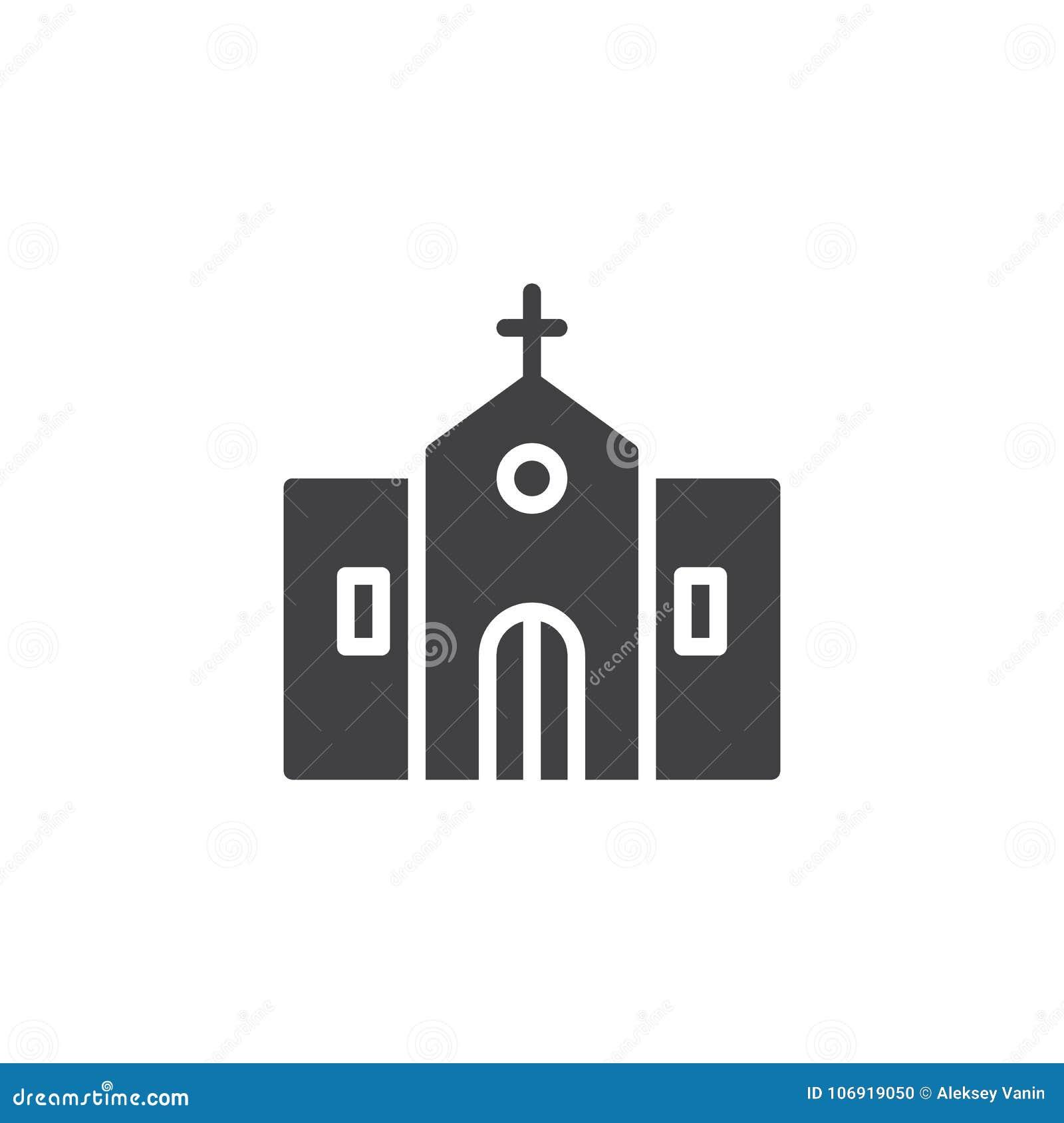 Kościelnego budynku ikony zewnętrzny wektor