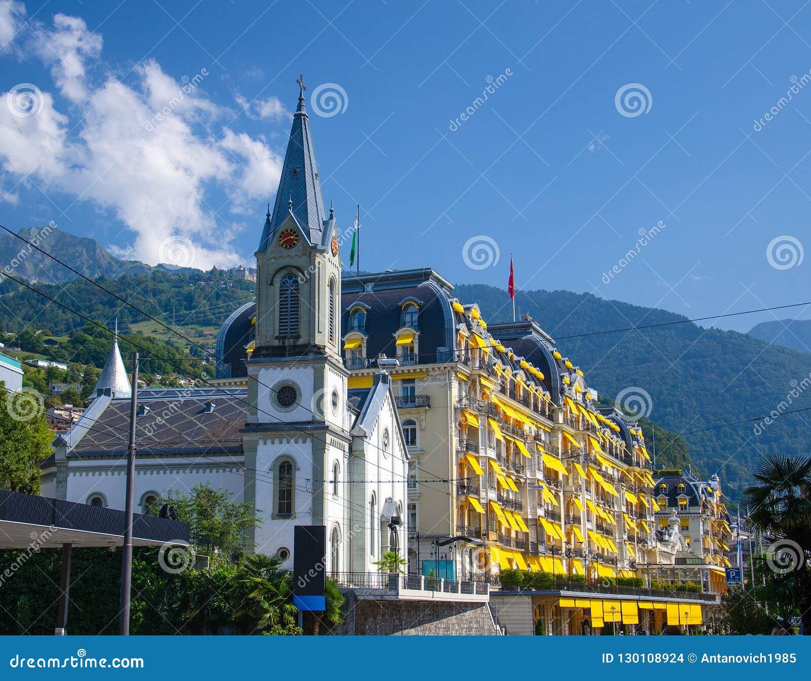 Kościelny i Piękny kondygnacja budynek, Szwajcaria
