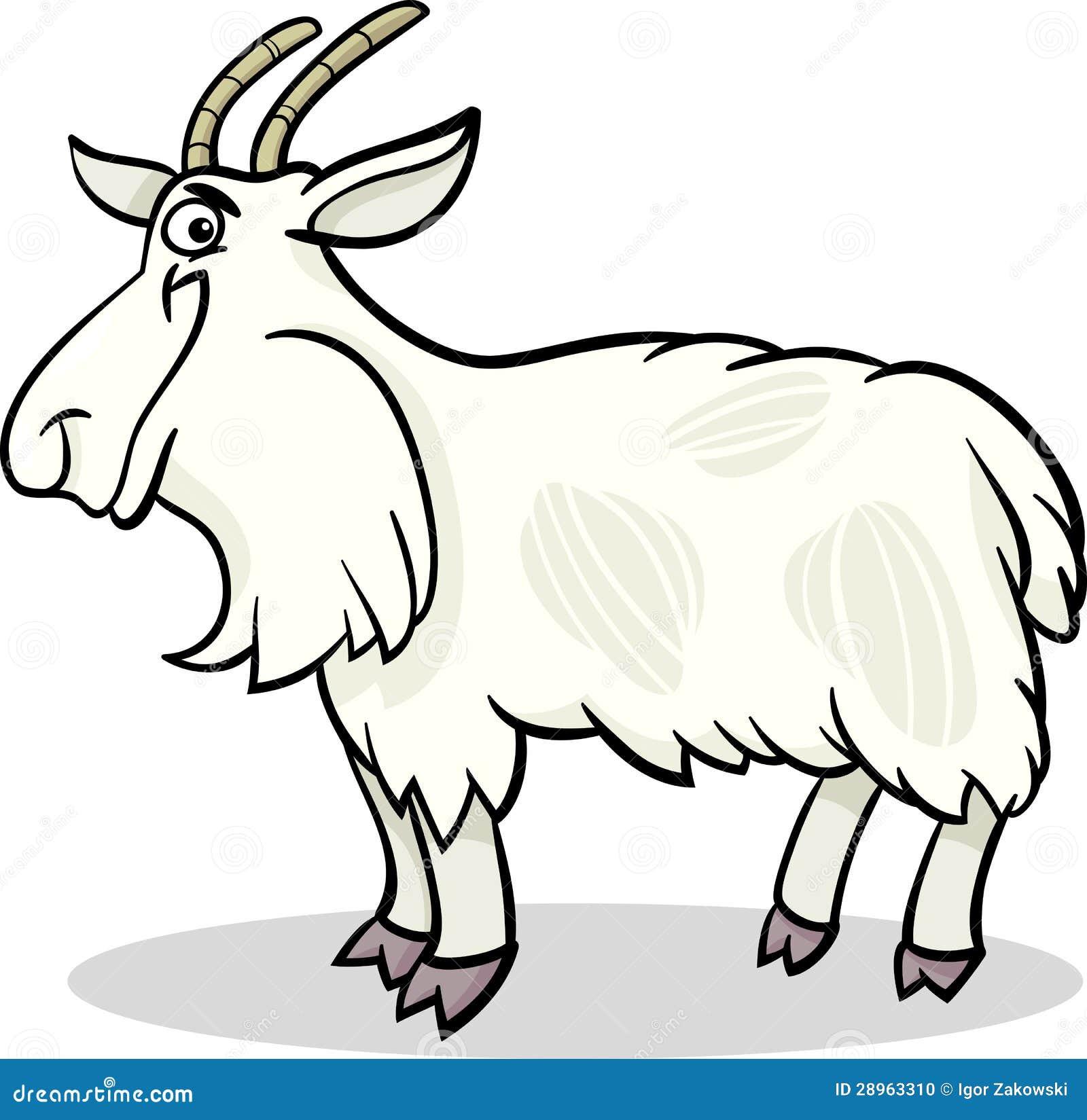 Koźlia zwierzęta gospodarskie kreskówki ilustracja