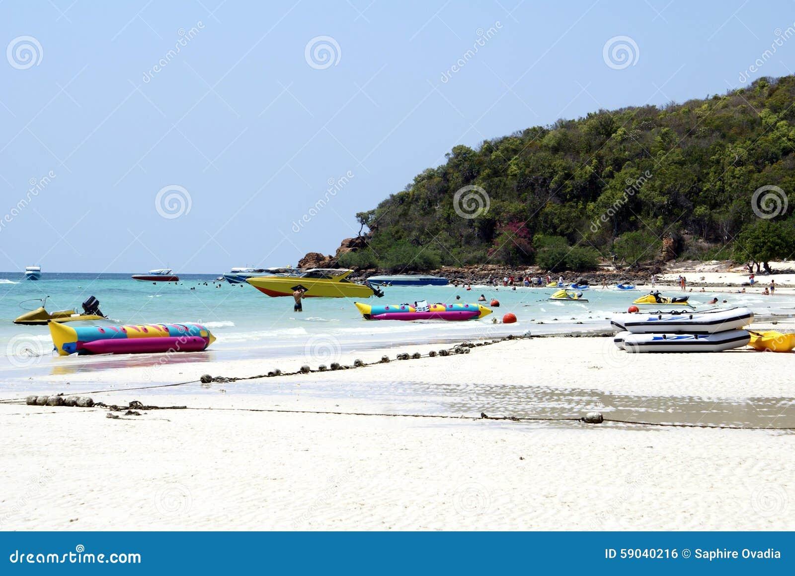 Ko Lan Island, Koh Hae Island, Or Coral Island In Pattaya, Thailand, Asia. St...