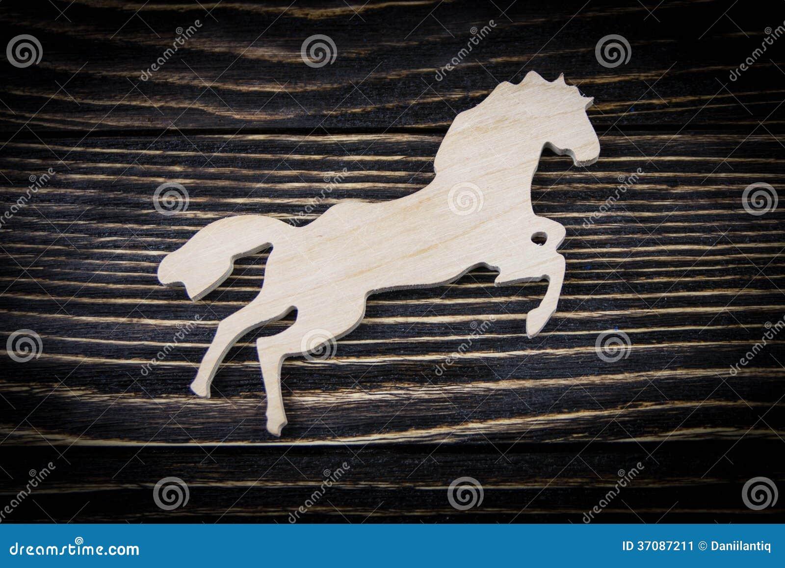 Download Koń Na Starym Drewnianym Tle Obraz Stock - Obraz złożonej z paintbrush, chińczyk: 37087211