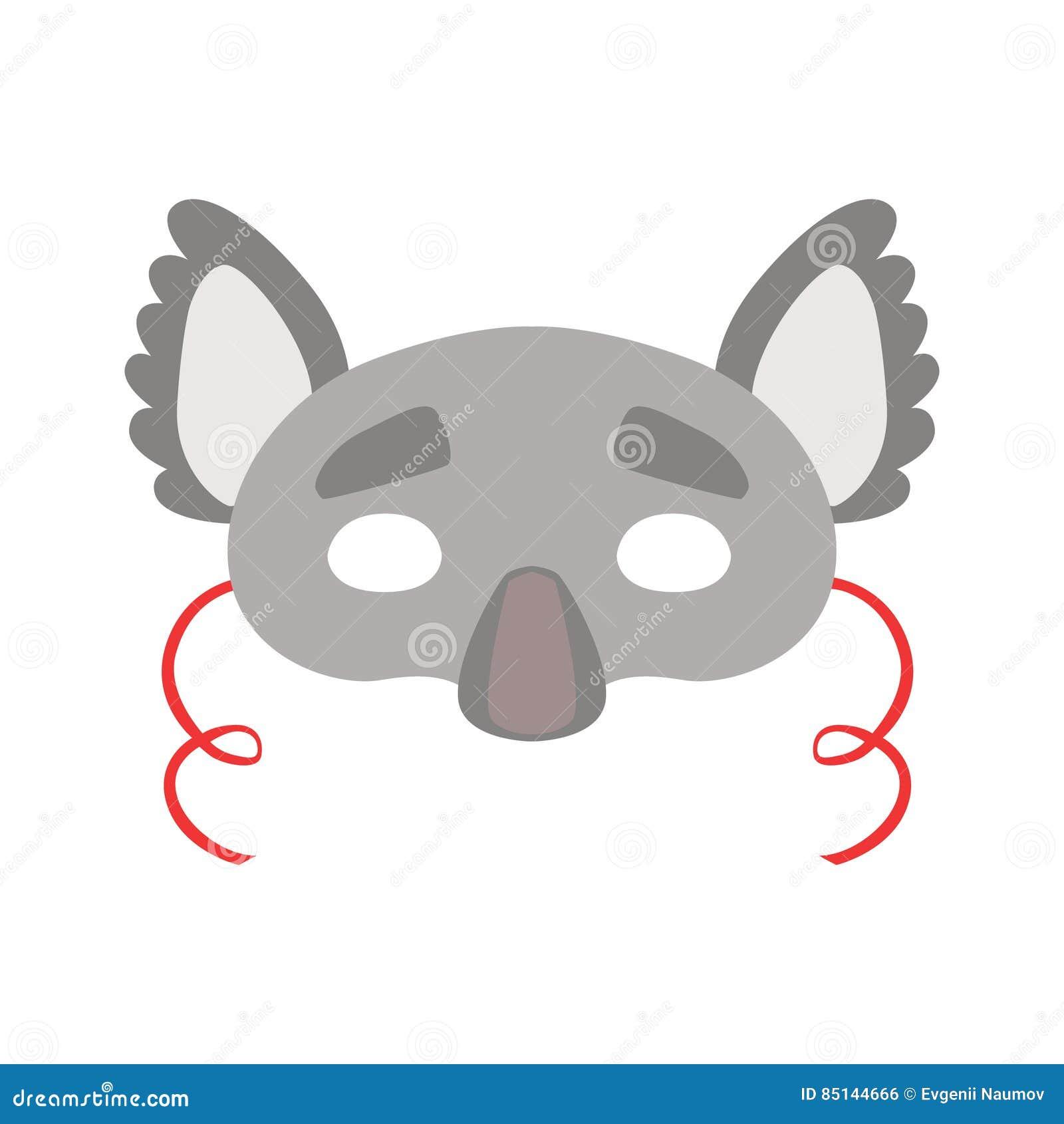 Koala Bear Animal Head Mask Kids Carnival Disguise Costume Element