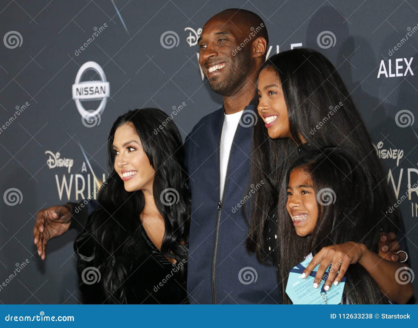 Kobe Bryant, Vanessa Bryant, Gianna Maria Onore Bryant och Natalia Diamante Bryant