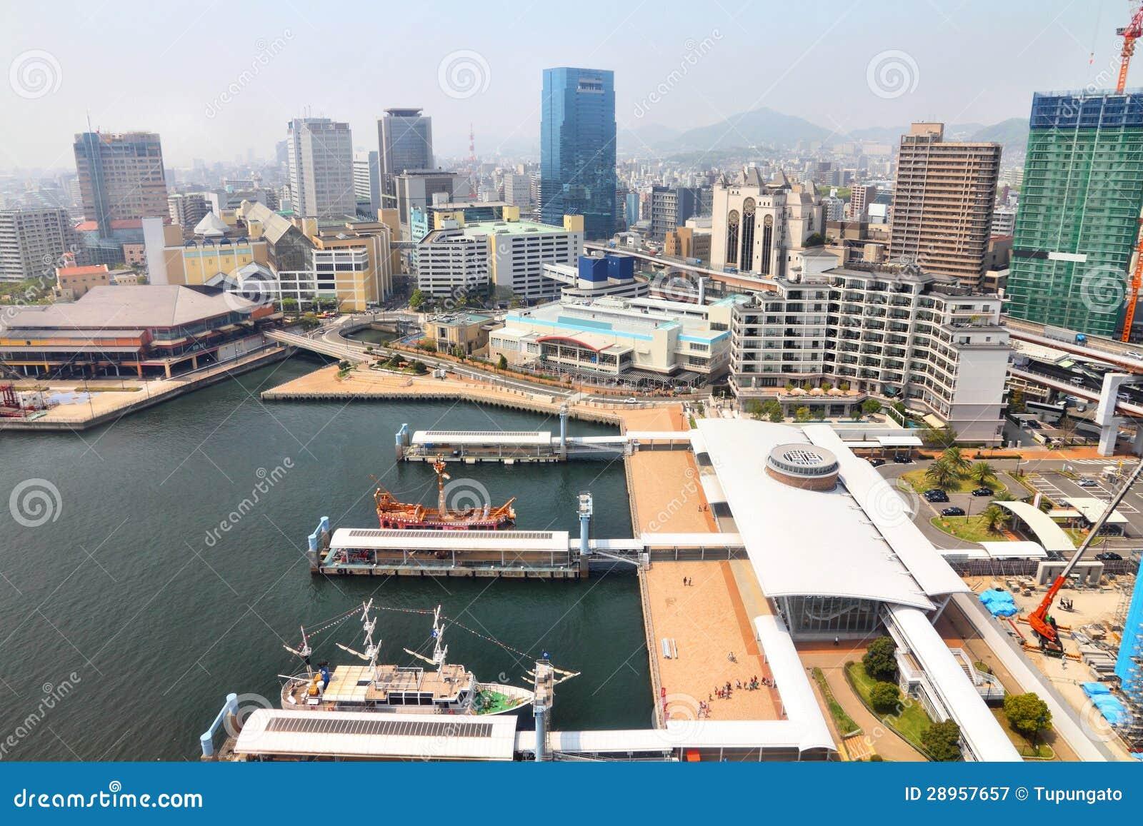 Kobe Japan  city pictures gallery : Kobe, Japan stad in het gebied van Kansai in prefectuur Hyogo. Lucht ...