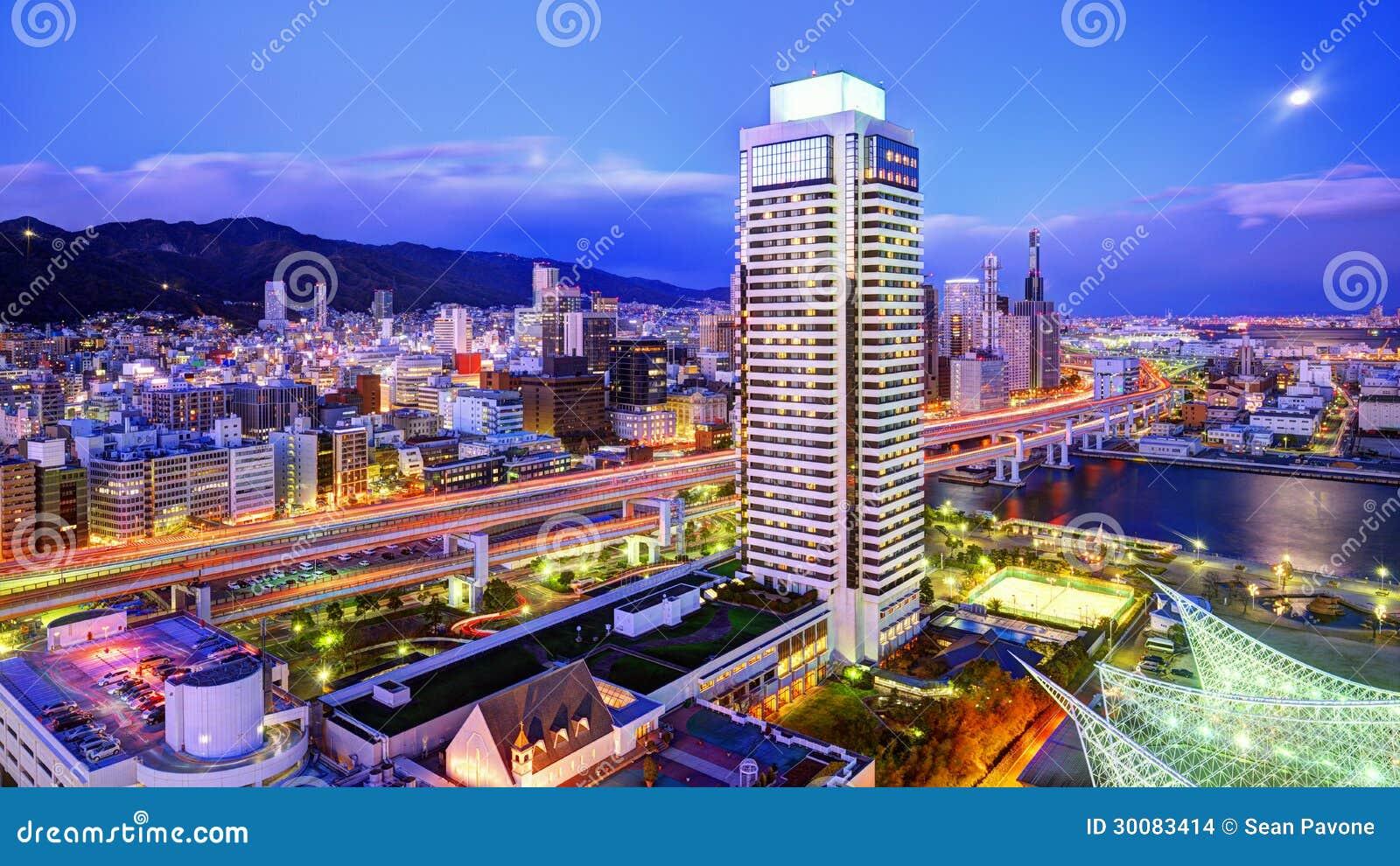 Kobe Japan  City pictures : Kobe, Japan panorama at Hanshin Expressway.