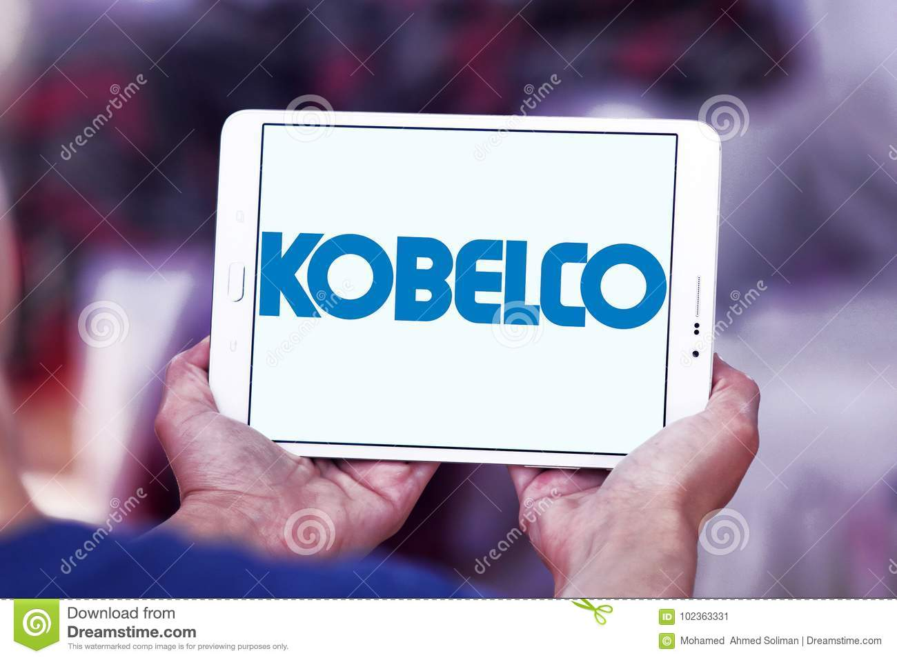 Kobelco steel company logo editorial photo  Image of company