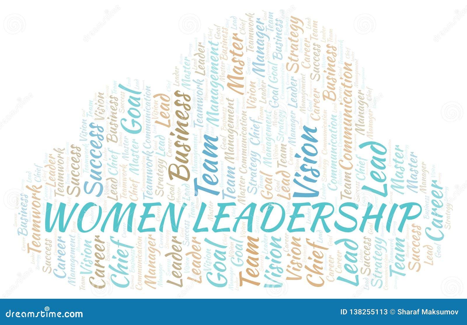 Kobiet przywódctwo słowa chmura