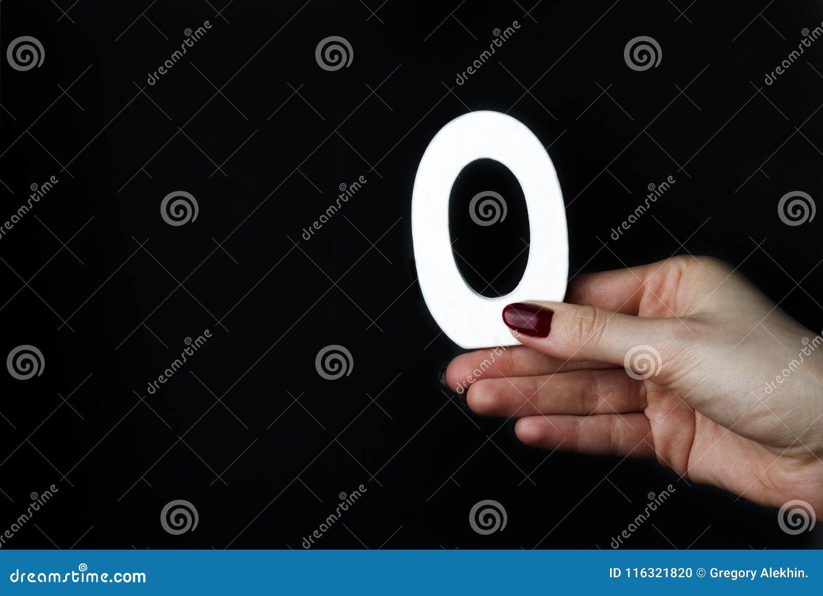 Kobiet ręki liczba zero