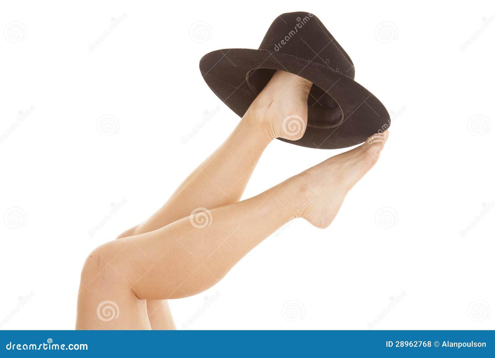 Kobieta cieków kowbojski kapelusz up