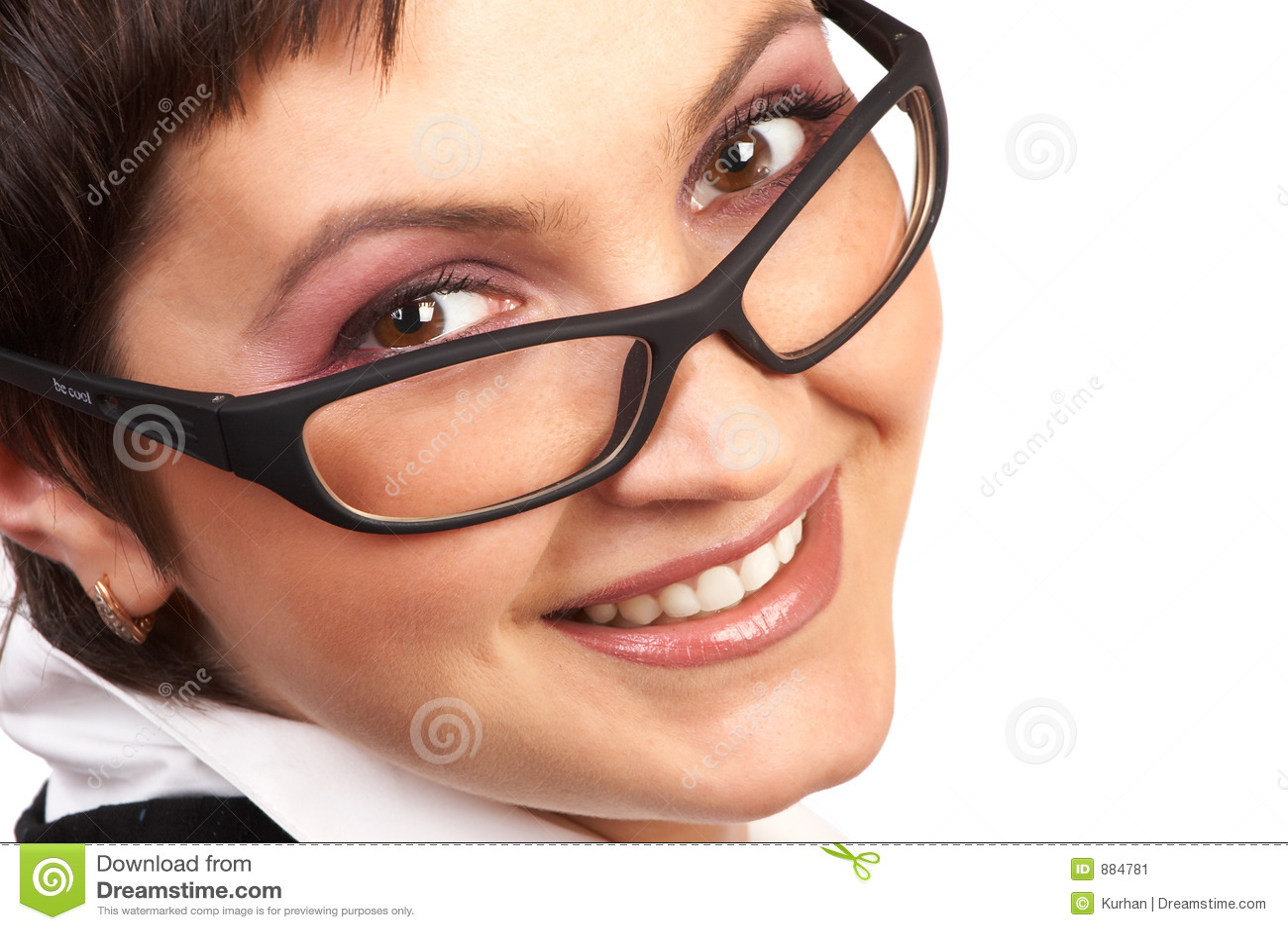 Kobieta gospodarczej uśmiechnięta