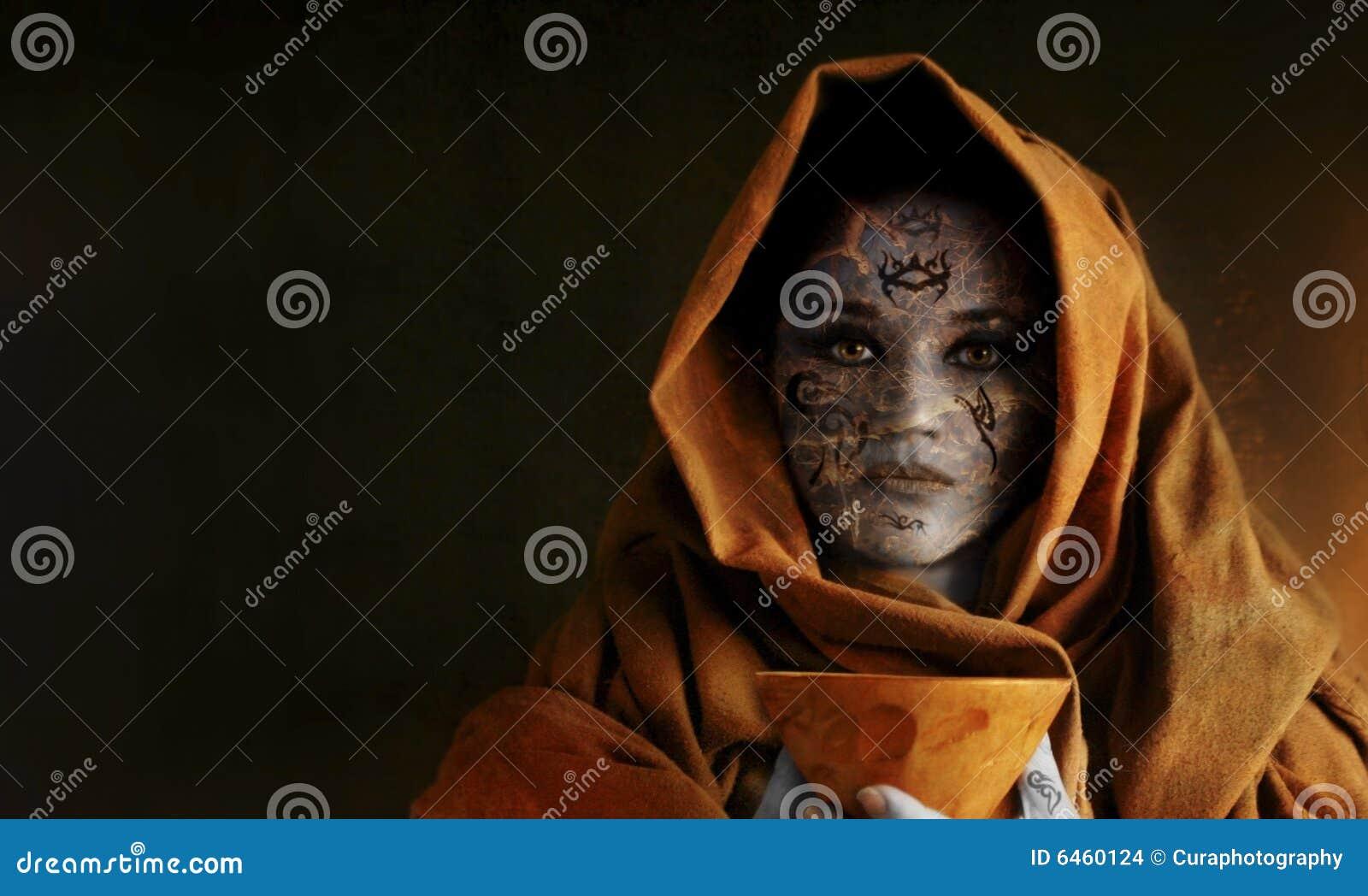 Kobieta kielich gospodarstwa