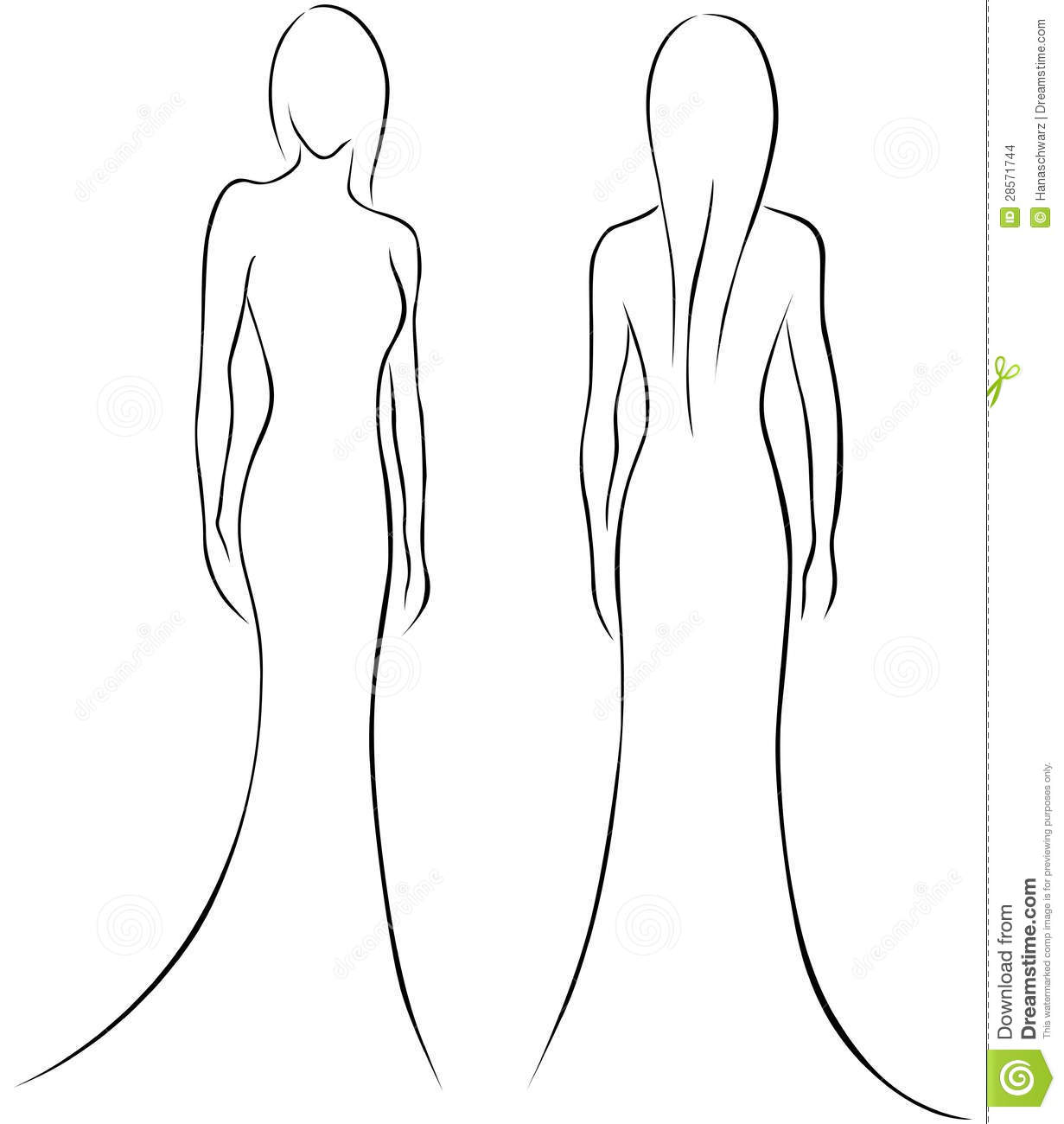 Free Fashion Body Silhouette Outlines