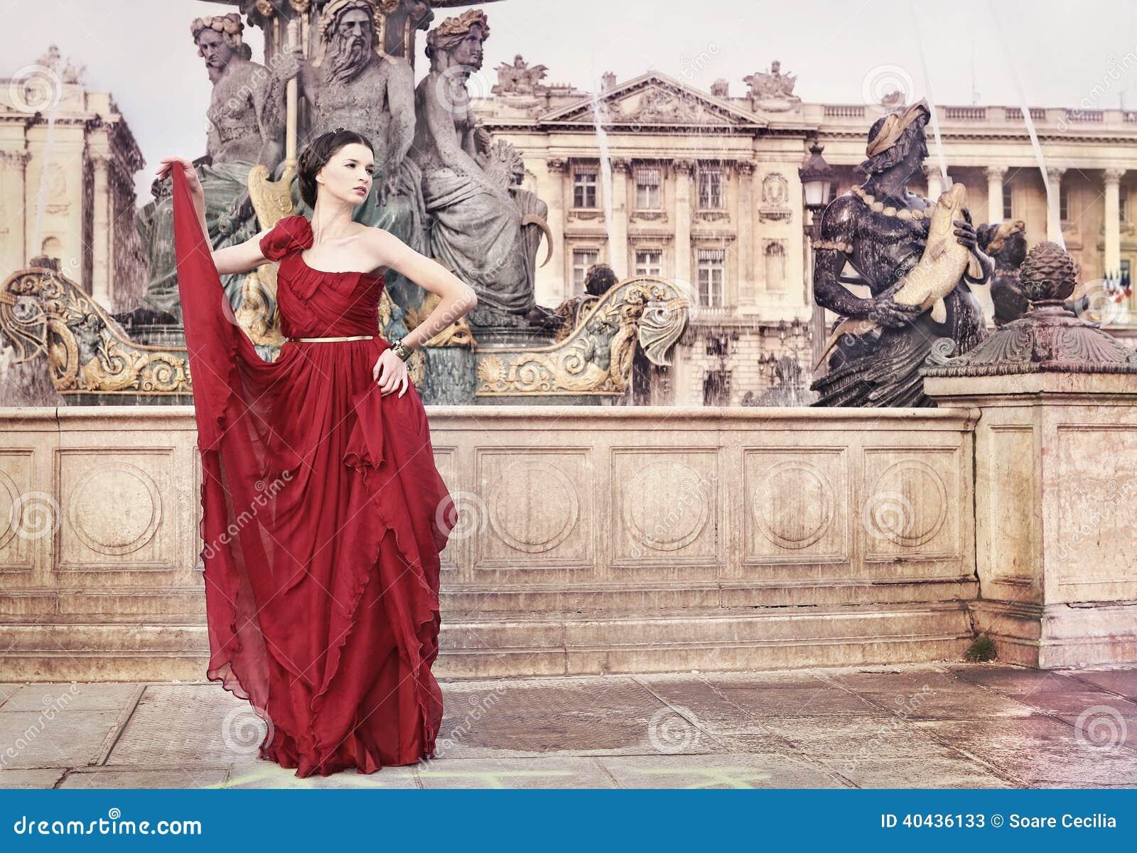 Kobieta kwadrat w Paryż publicznie, Francja