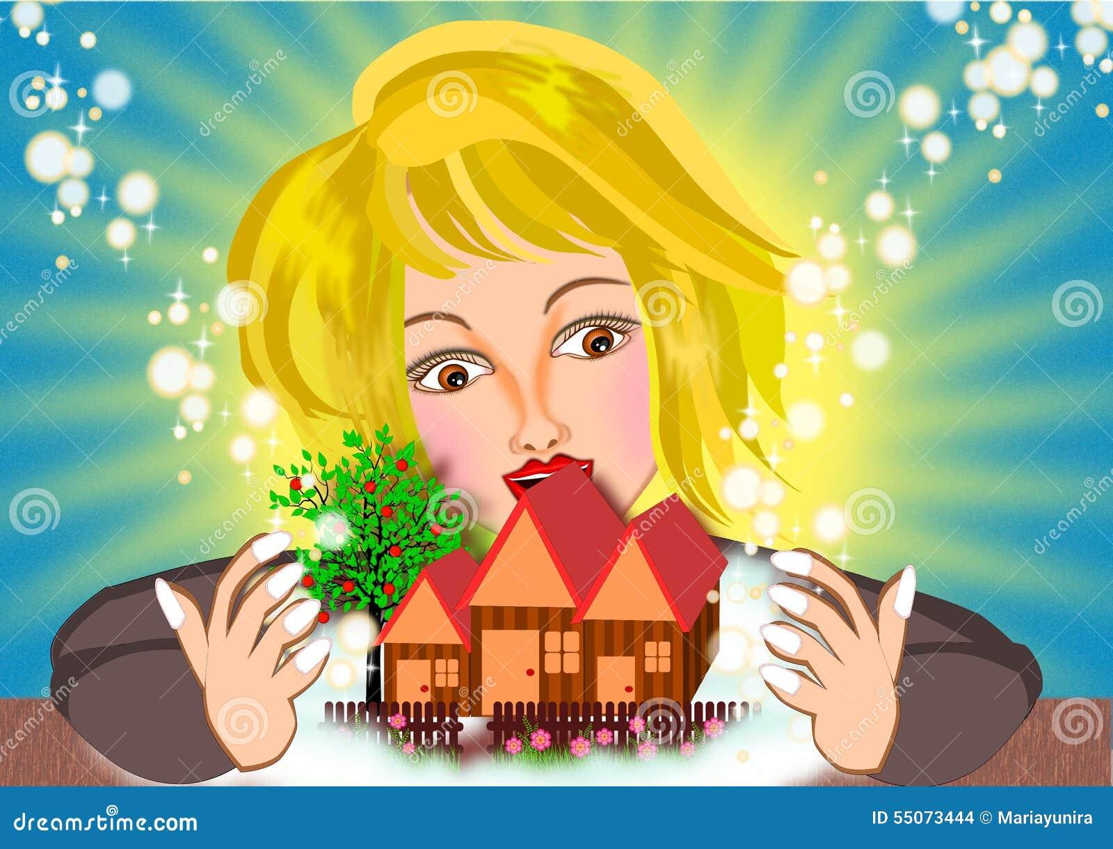 Kobieta Marzy nowy dom