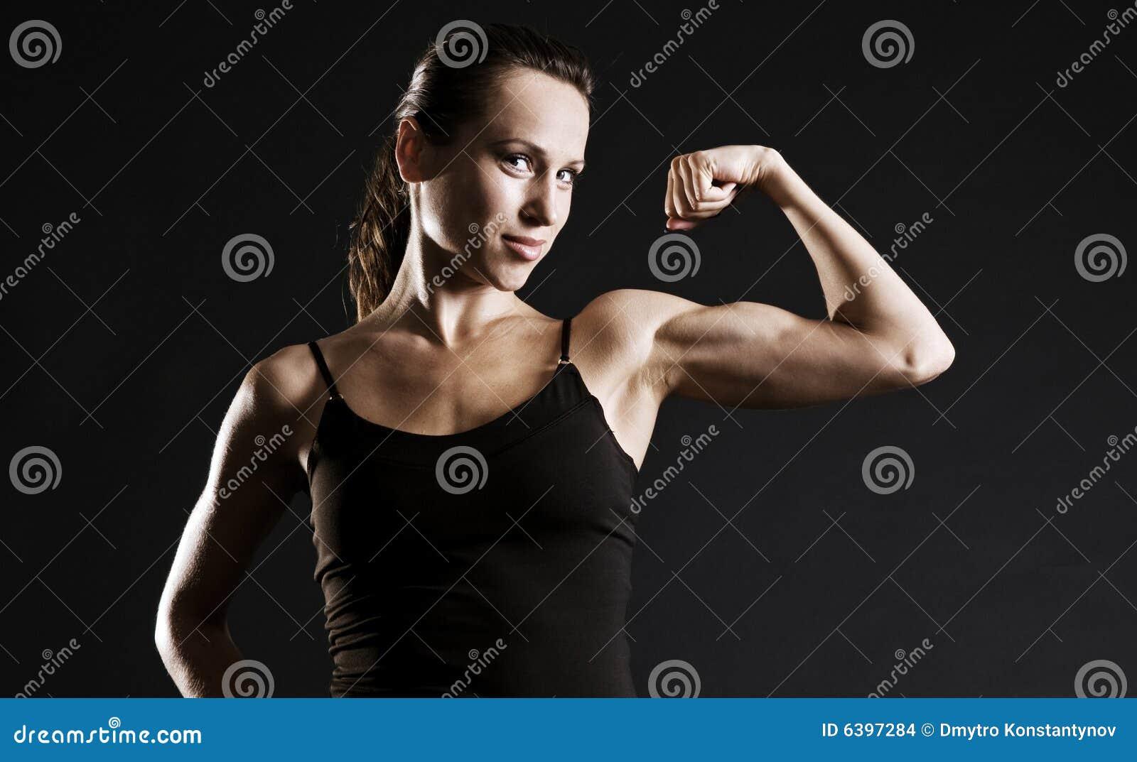 Kobieta mięśni