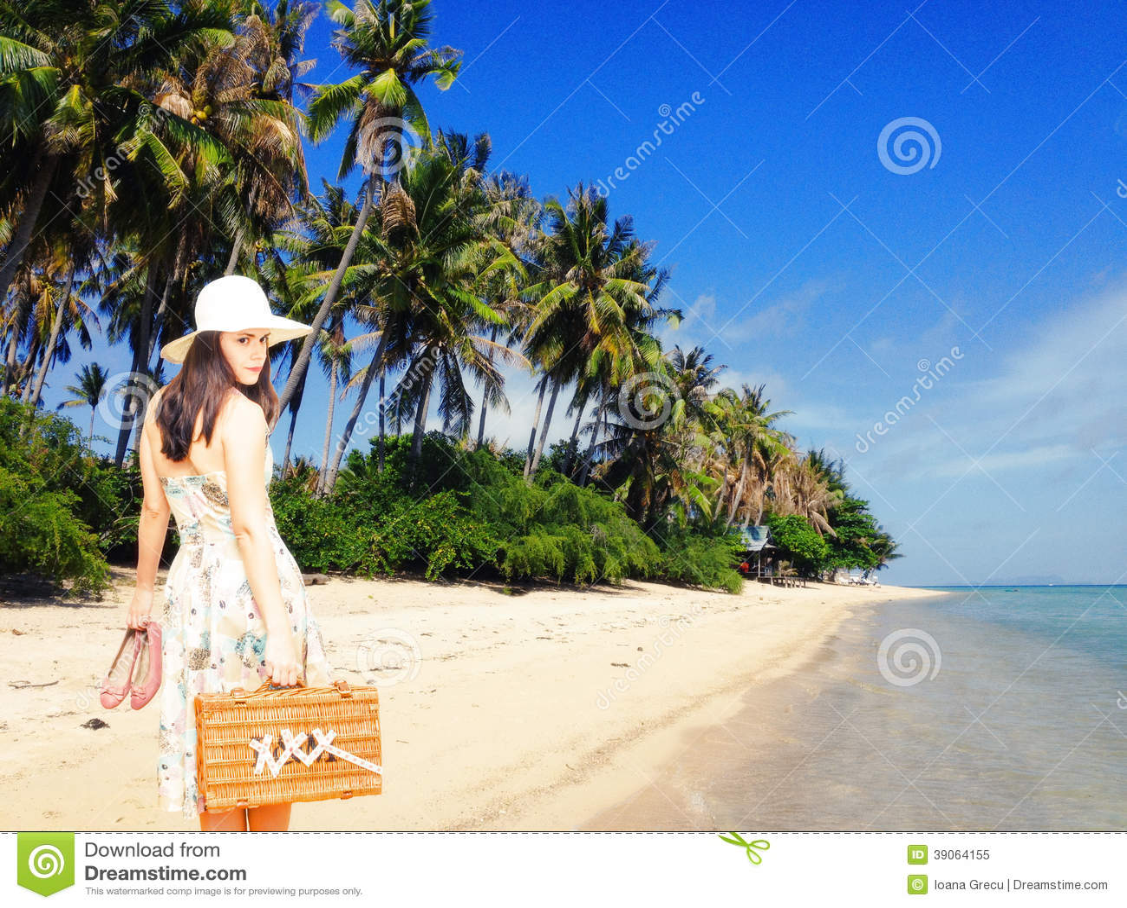 Kobieta na tropikalnym wakacje