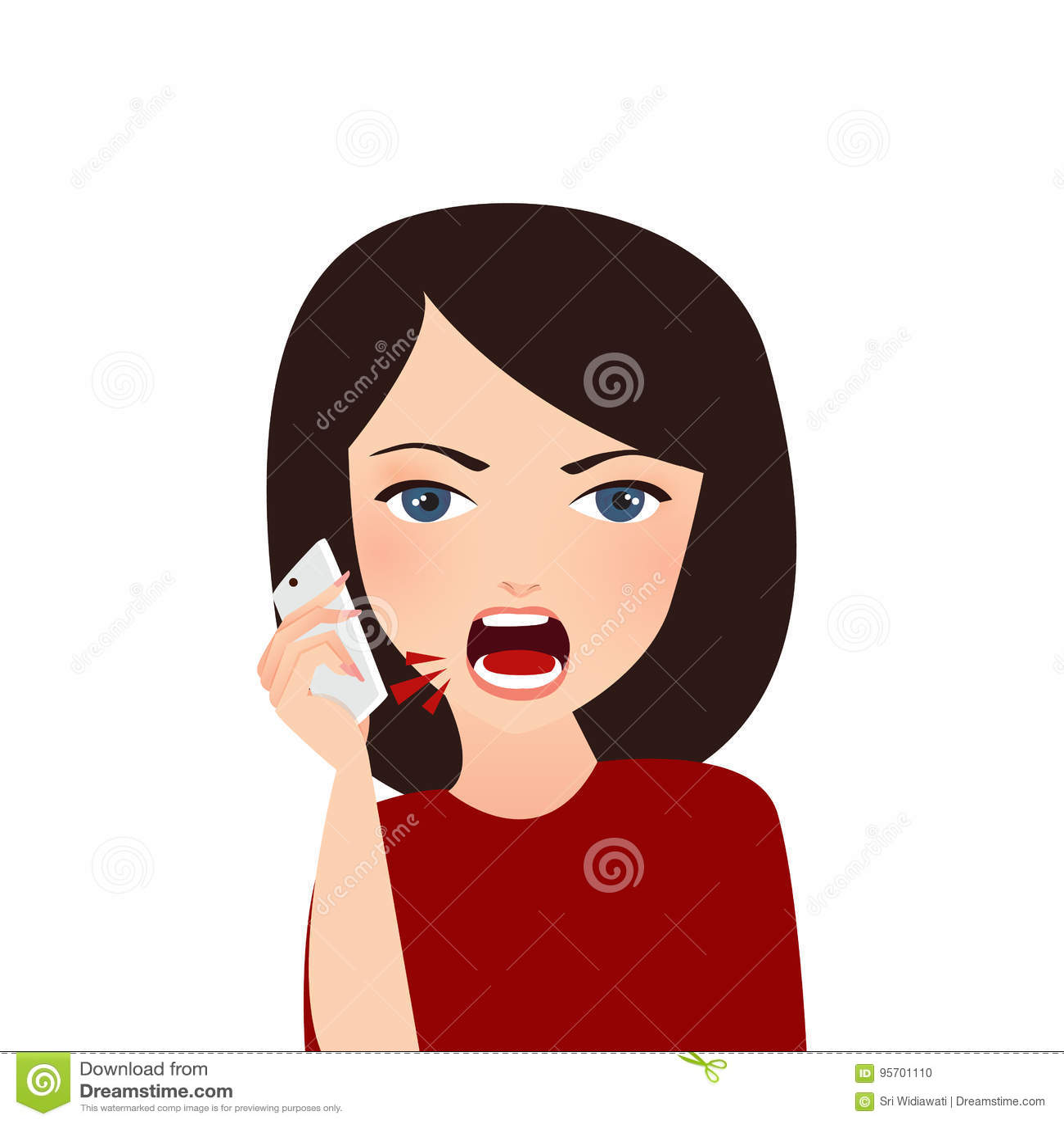 Kobieta narzeka na telefonie gniewnym narzeka wzburzony krzyczeć
