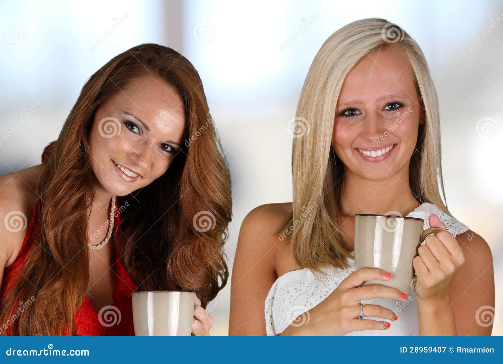 Kobieta Pije Coffeee