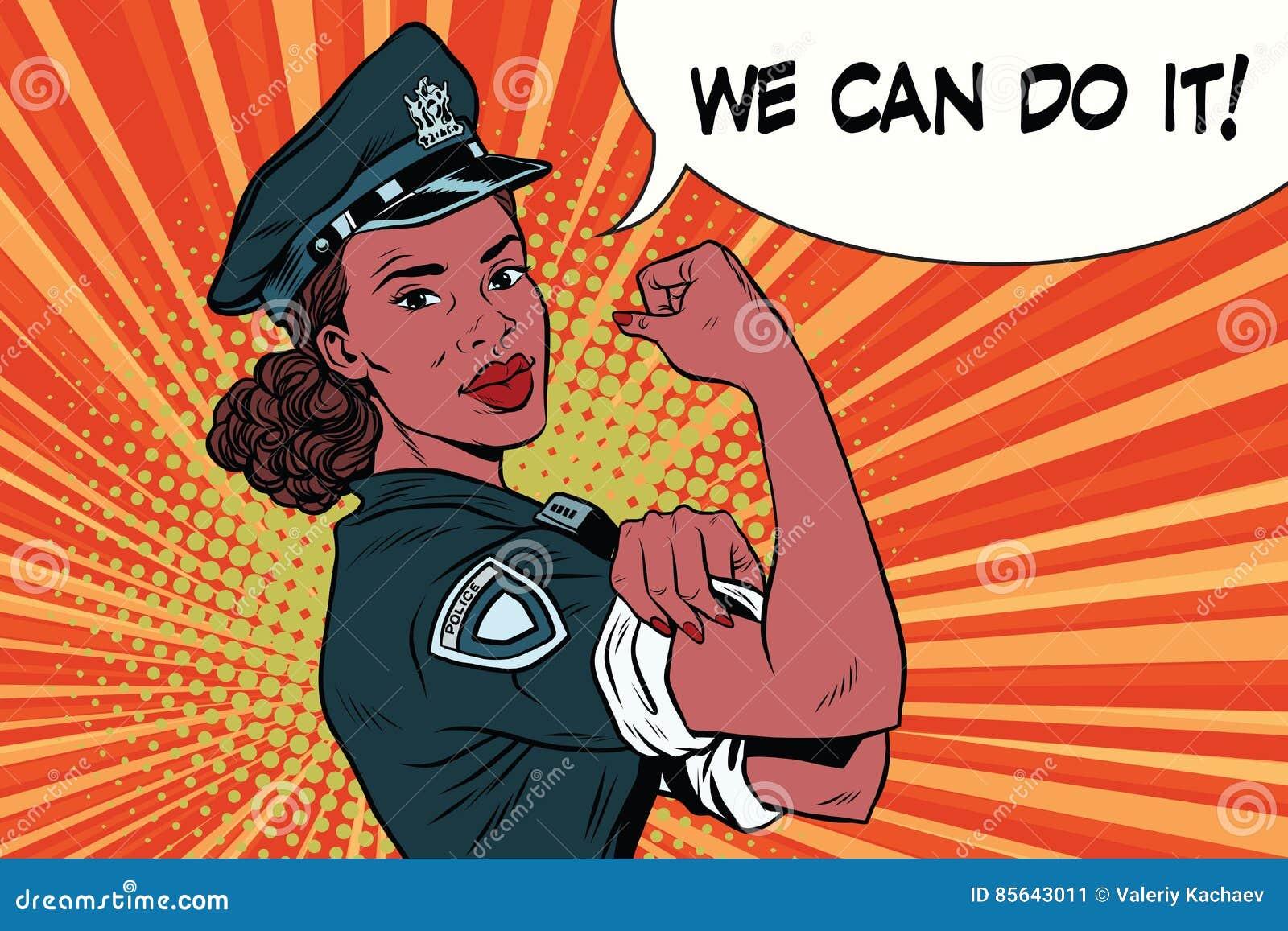 Kobieta policjant możemy robić mu