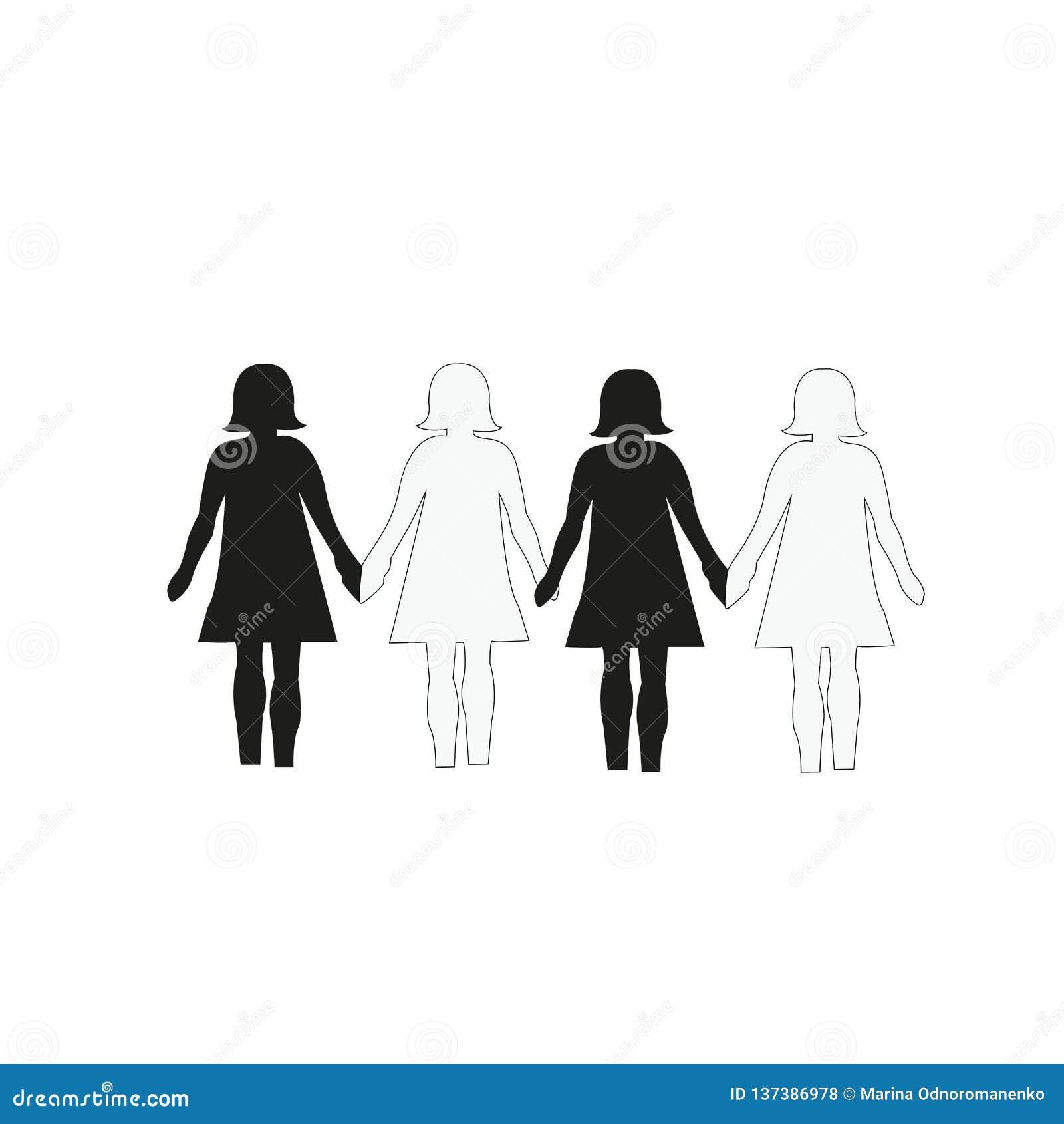 Kobieta równy i ten sam dobra
