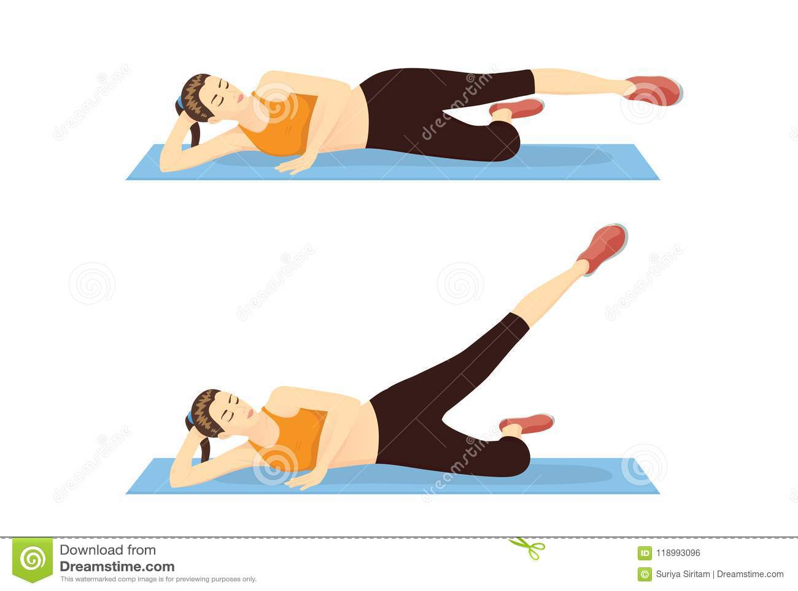 Kobieta seansu krok udo trening z nóg podwyżkami outside